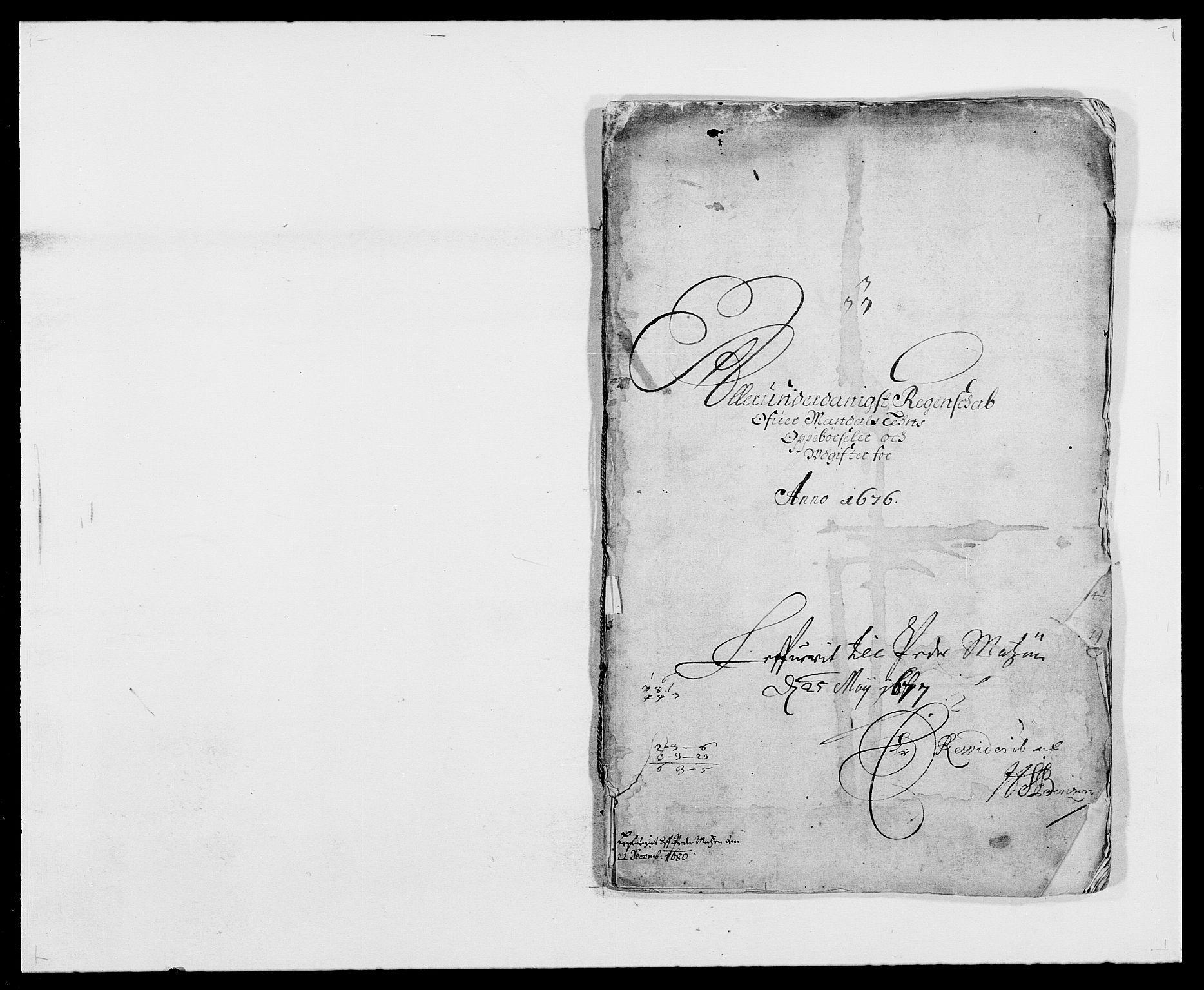 RA, Rentekammeret inntil 1814, Reviderte regnskaper, Fogderegnskap, R42/L2540: Mandal fogderi, 1676-1680, s. 1