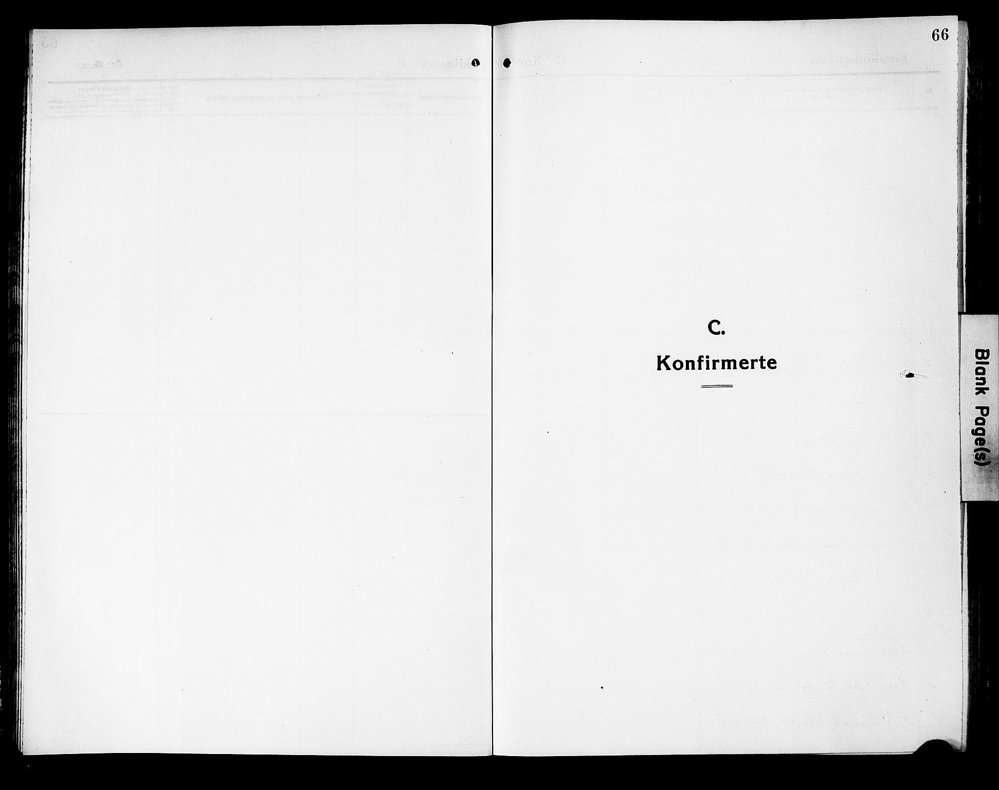 SAKO, Fiskum kirkebøker, G/Ga/L0006: Klokkerbok nr. 6, 1913-1927, s. 66