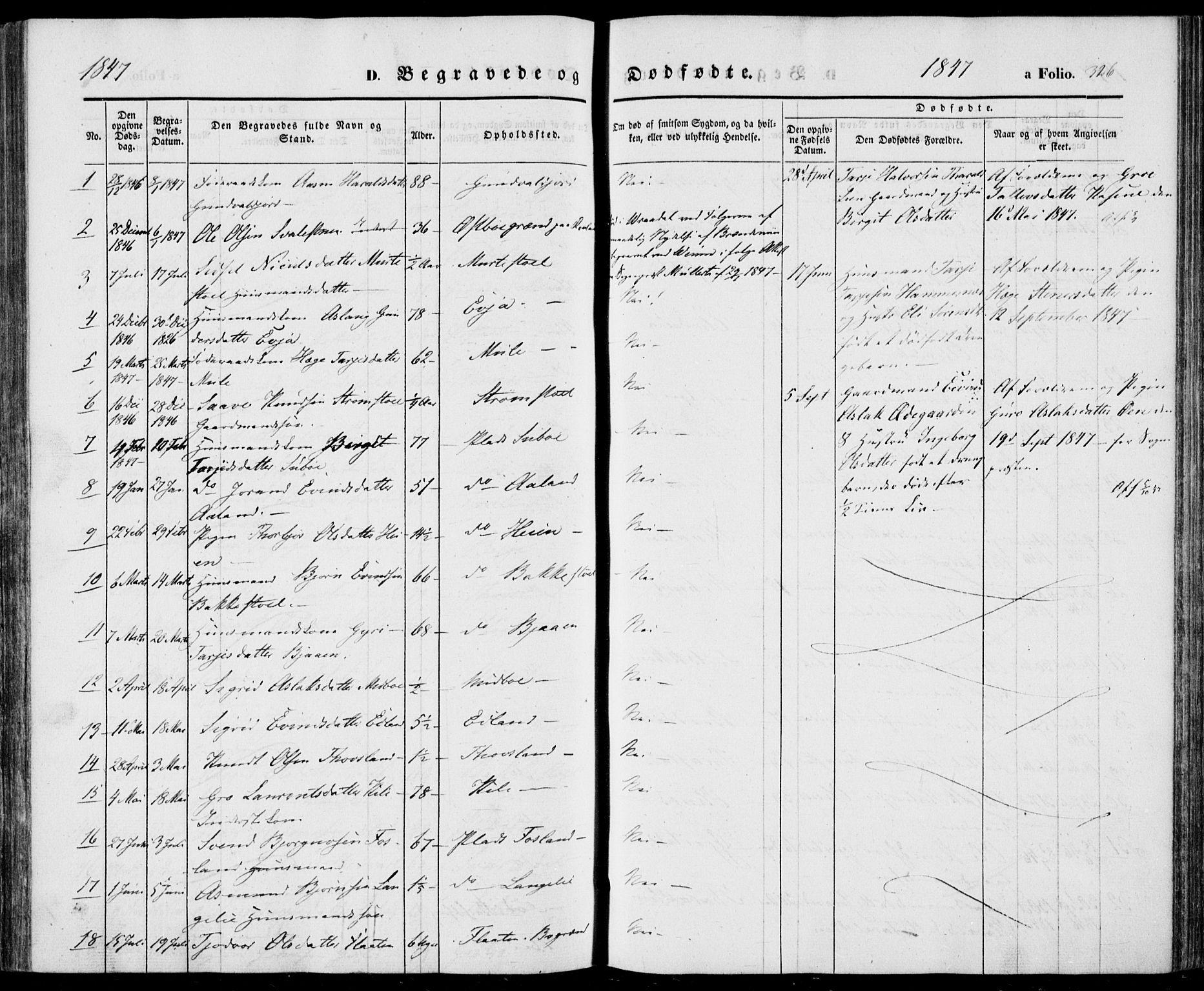 SAKO, Vinje kirkebøker, F/Fa/L0004: Ministerialbok nr. I 4, 1843-1869, s. 326