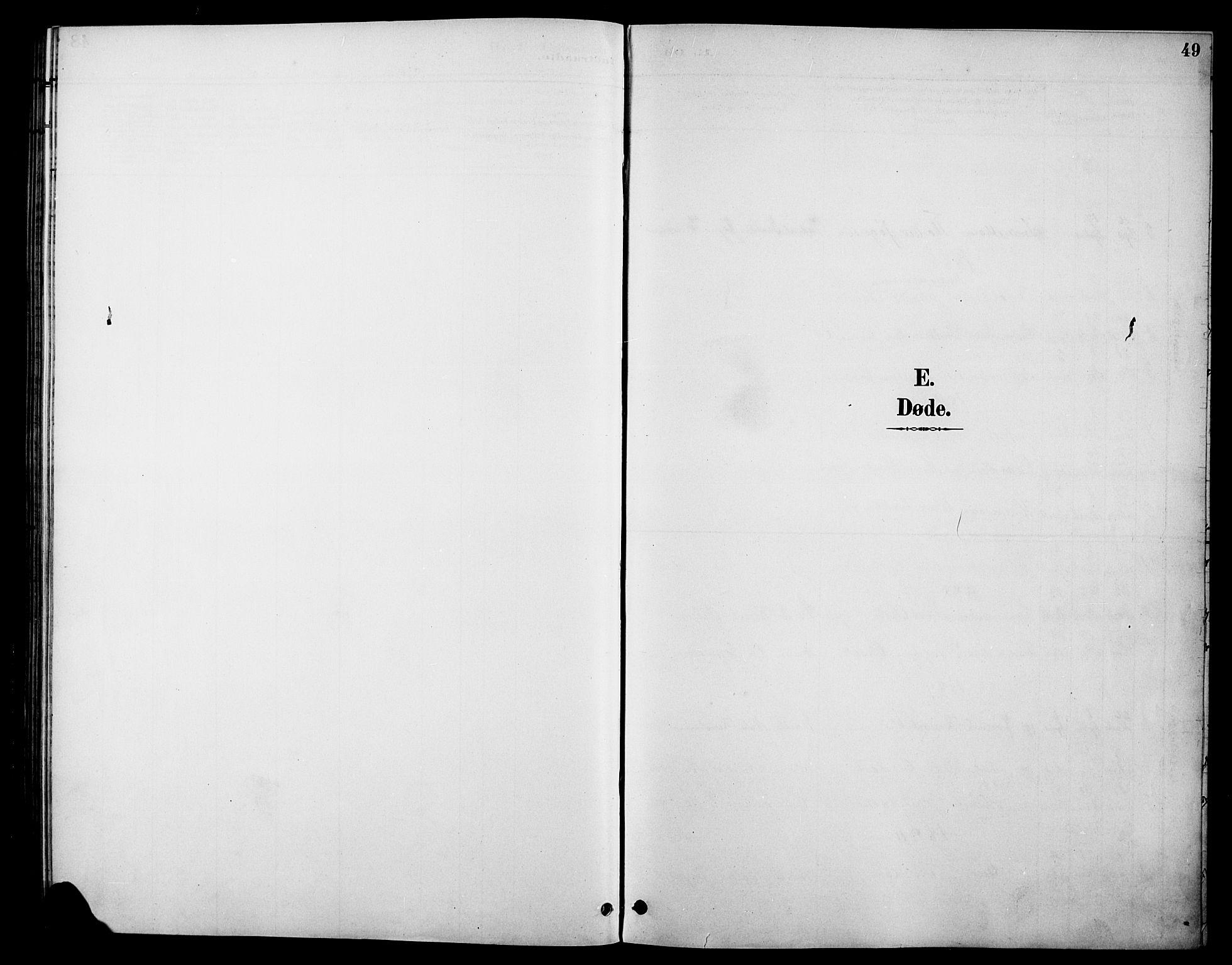 SAH, Øystre Slidre prestekontor, Klokkerbok nr. 6, 1887-1916, s. 49