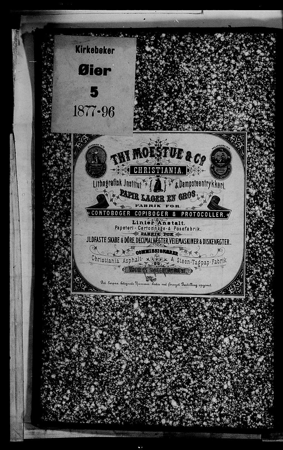 SAH, Øyer prestekontor, Klokkerbok nr. 2, 1878-1896