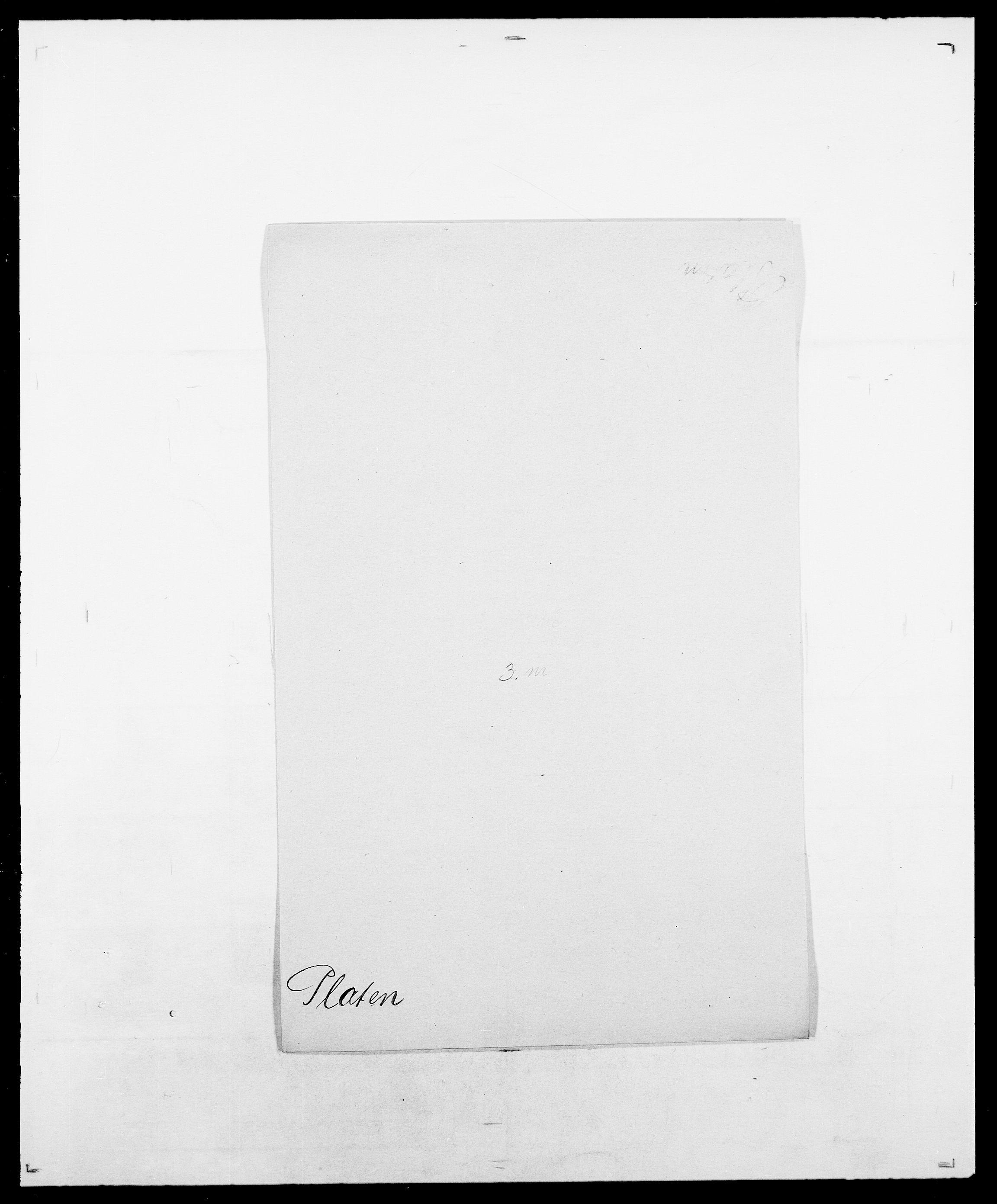 SAO, Delgobe, Charles Antoine - samling, D/Da/L0031: de Place - Raaum, s. 29