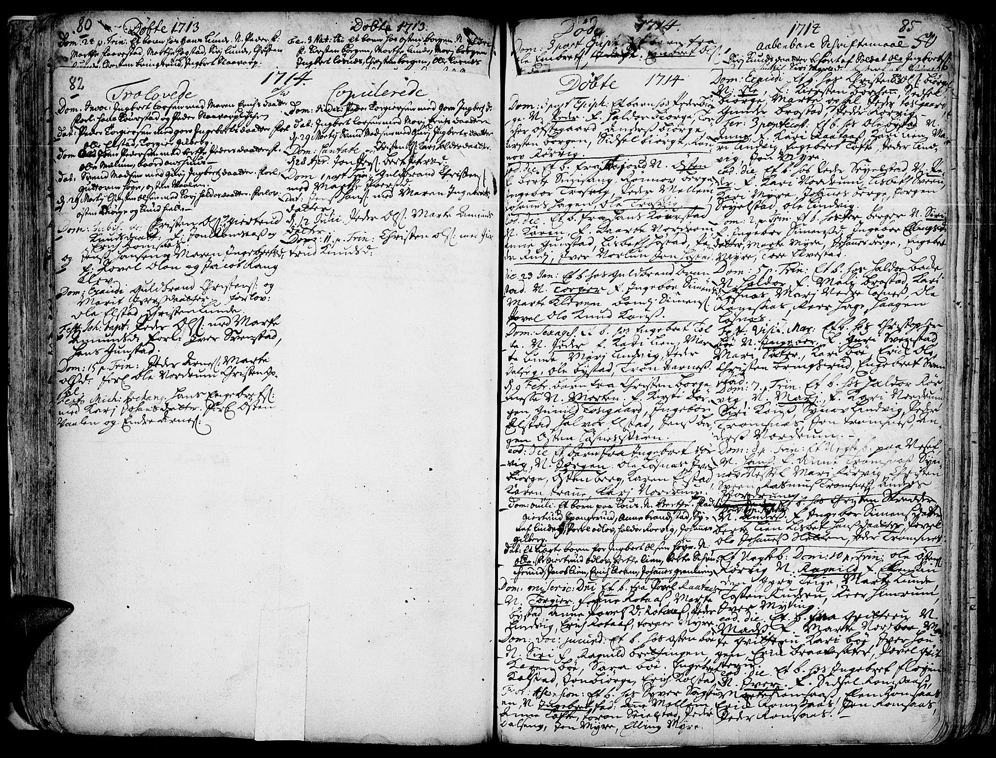 SAH, Ringebu prestekontor, Ministerialbok nr. 1, 1696-1733, s. 82-83