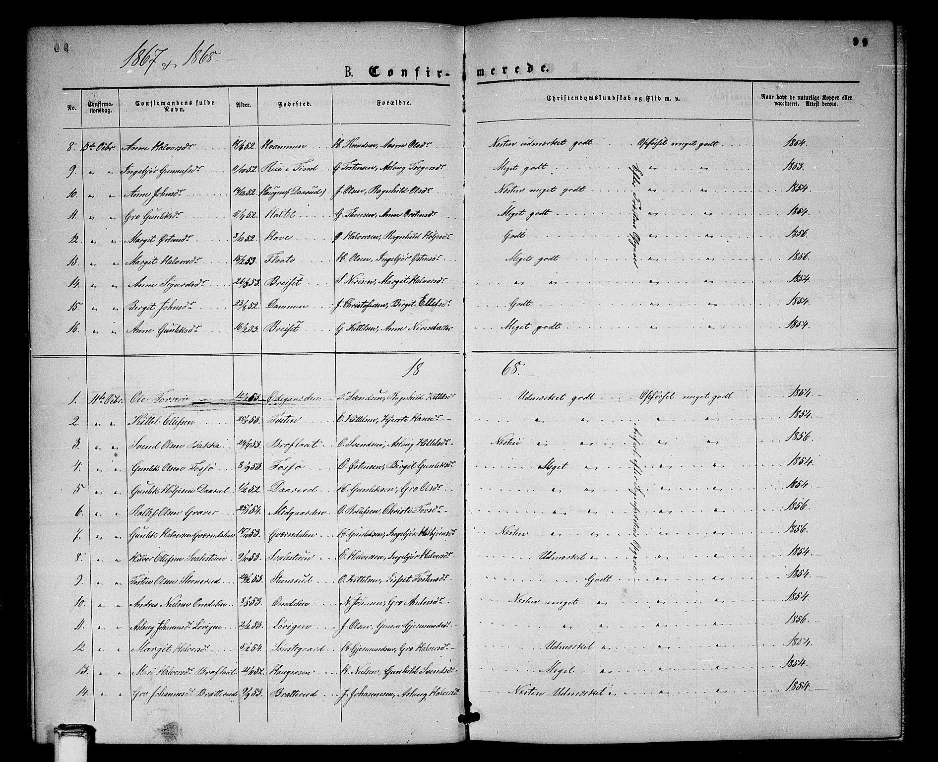 SAKO, Gransherad kirkebøker, G/Gb/L0002: Klokkerbok nr. II 2, 1860-1886, s. 99