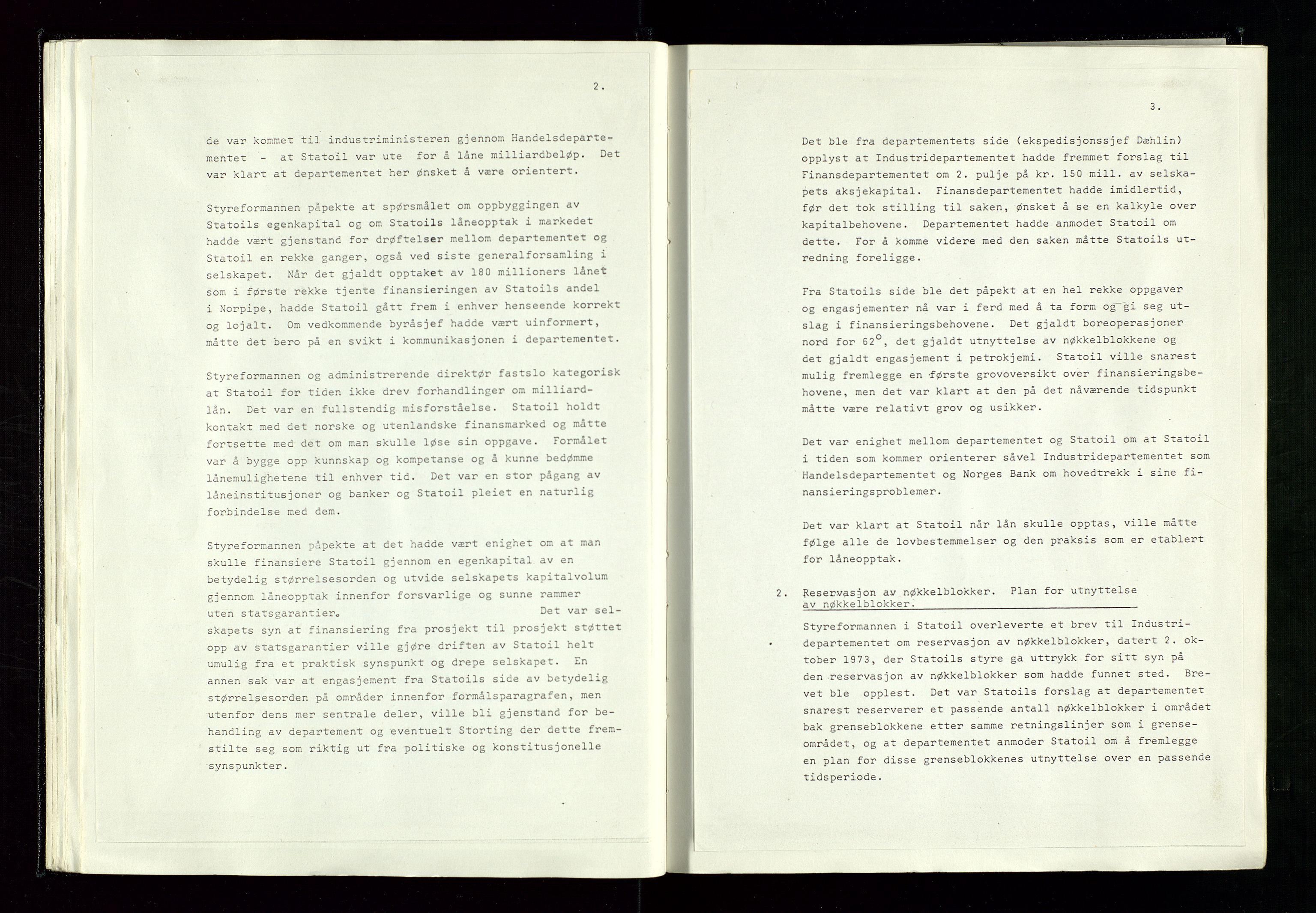 SAST, Pa 1339 - Statoil ASA, A/Ab/Aba/L0001: Styremøteprotokoller, 05.10.1972 til 14.12.1978, 1972-1978, s. 35