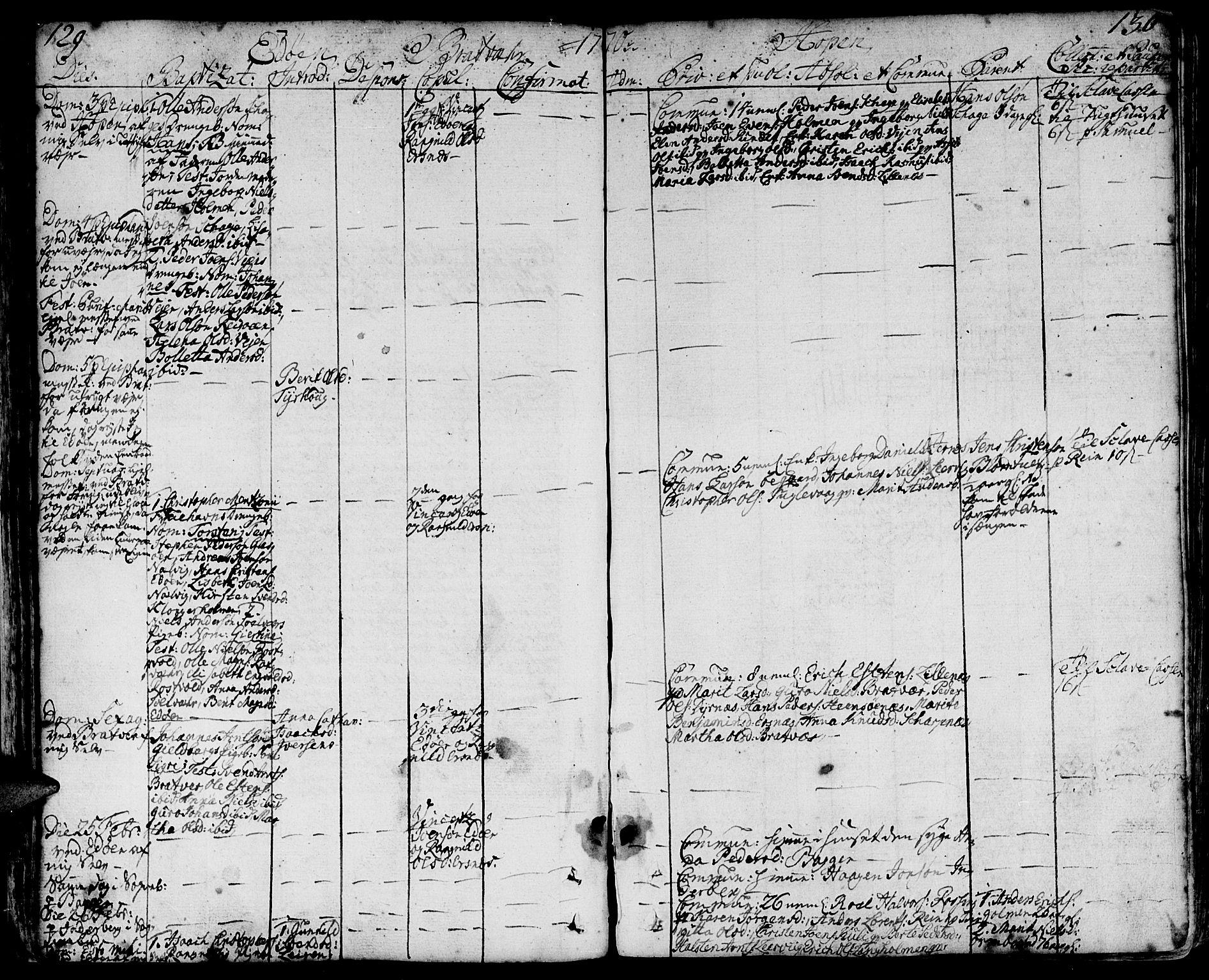 SAT, Ministerialprotokoller, klokkerbøker og fødselsregistre - Møre og Romsdal, 581/L0932: Ministerialbok nr. 581A02, 1767-1823, s. 129-130