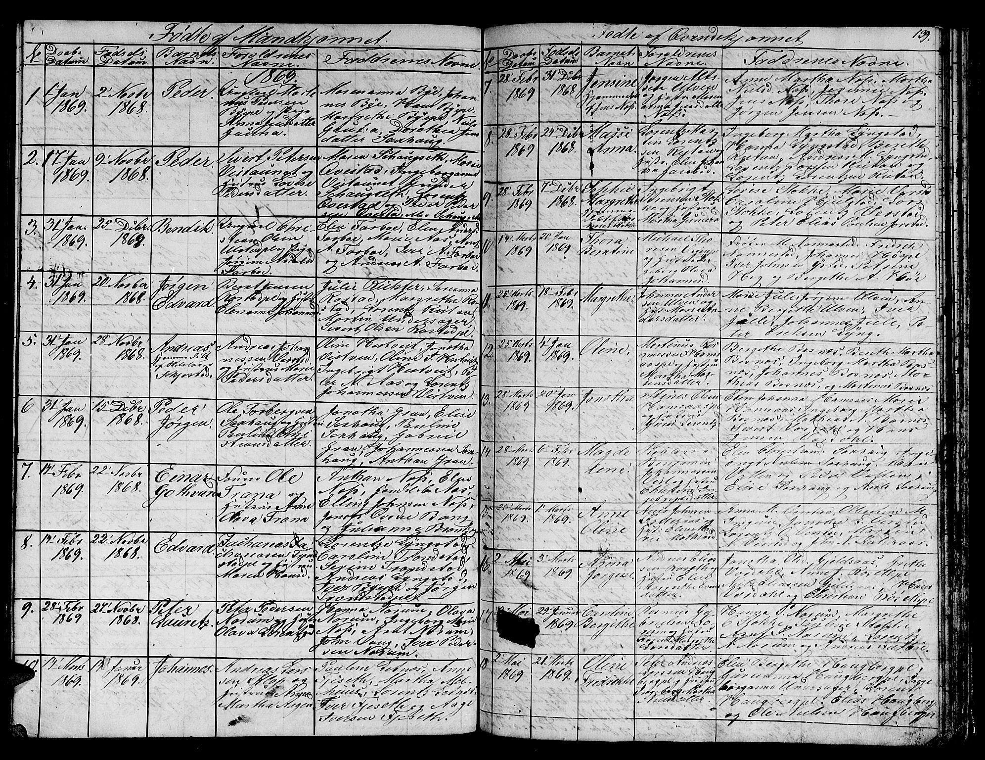 SAT, Ministerialprotokoller, klokkerbøker og fødselsregistre - Nord-Trøndelag, 730/L0299: Klokkerbok nr. 730C02, 1849-1871, s. 139