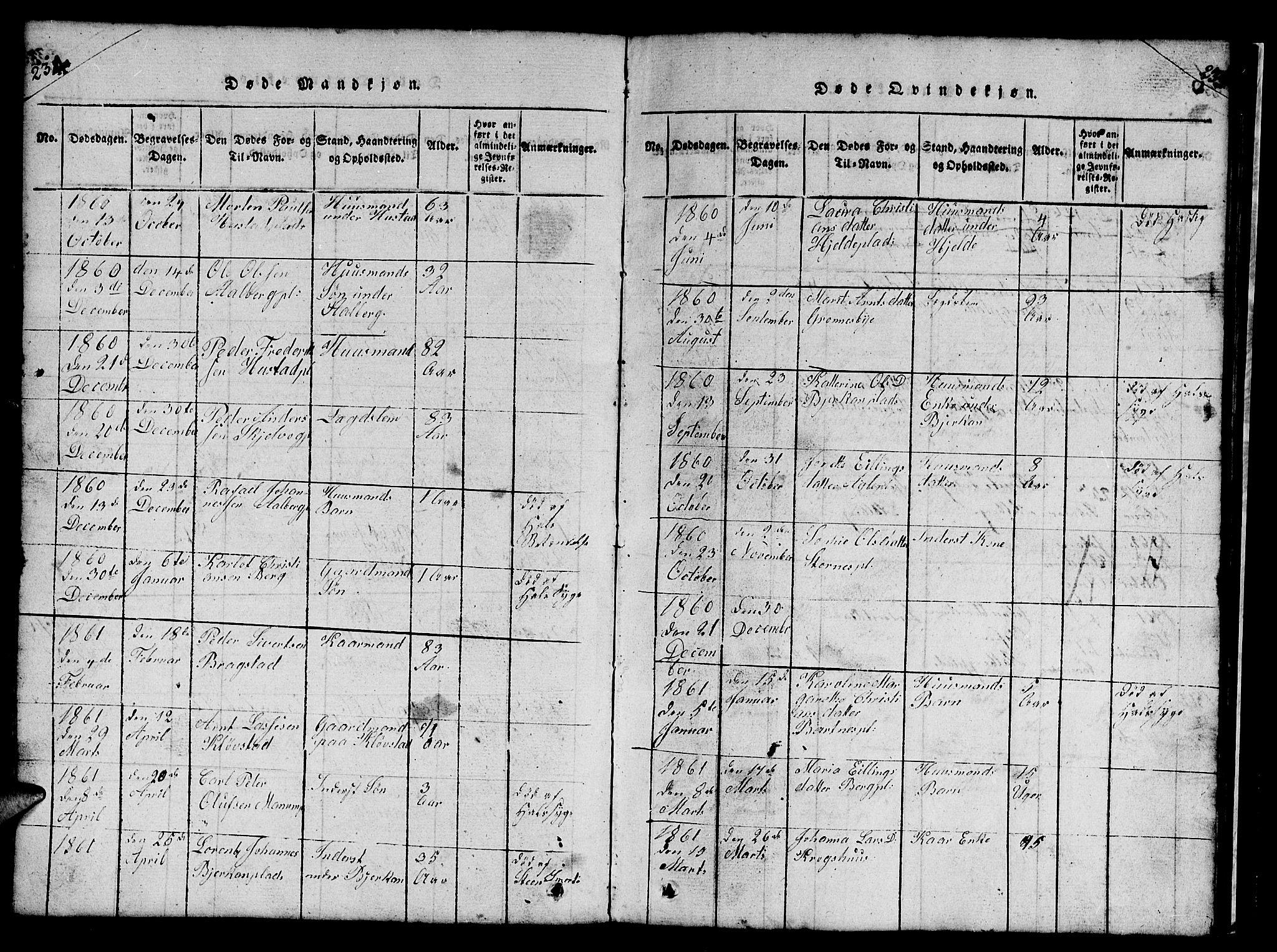 SAT, Ministerialprotokoller, klokkerbøker og fødselsregistre - Nord-Trøndelag, 732/L0317: Klokkerbok nr. 732C01, 1816-1881, s. 234-235