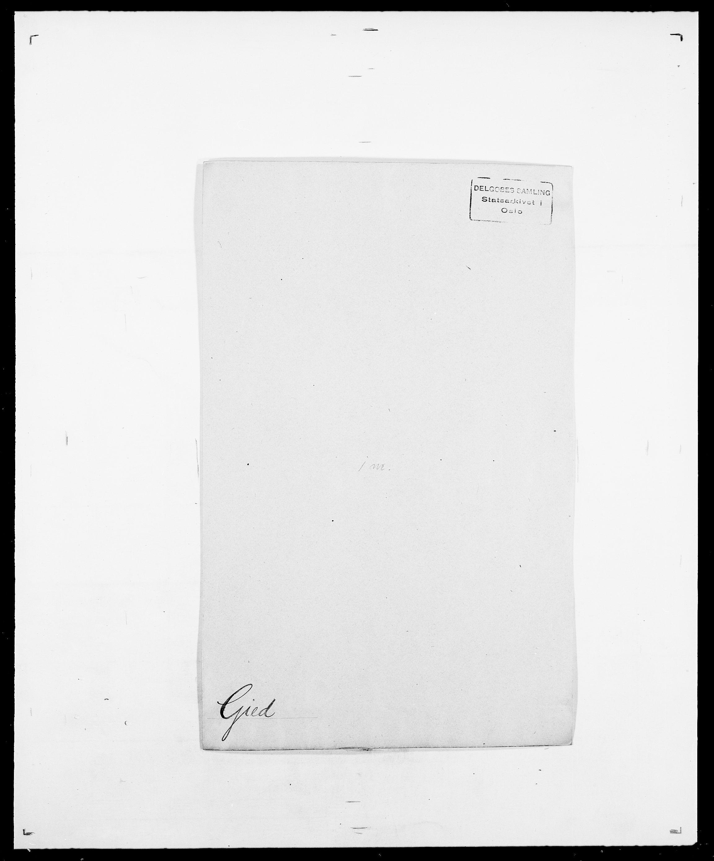 SAO, Delgobe, Charles Antoine - samling, D/Da/L0014: Giebdhausen - Grip, s. 3
