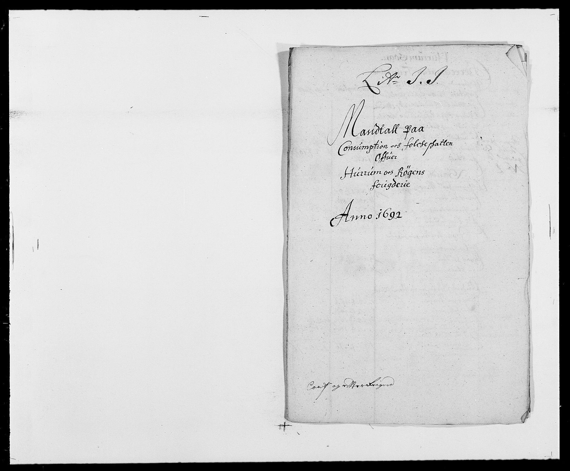 RA, Rentekammeret inntil 1814, Reviderte regnskaper, Fogderegnskap, R29/L1693: Fogderegnskap Hurum og Røyken, 1688-1693, s. 262