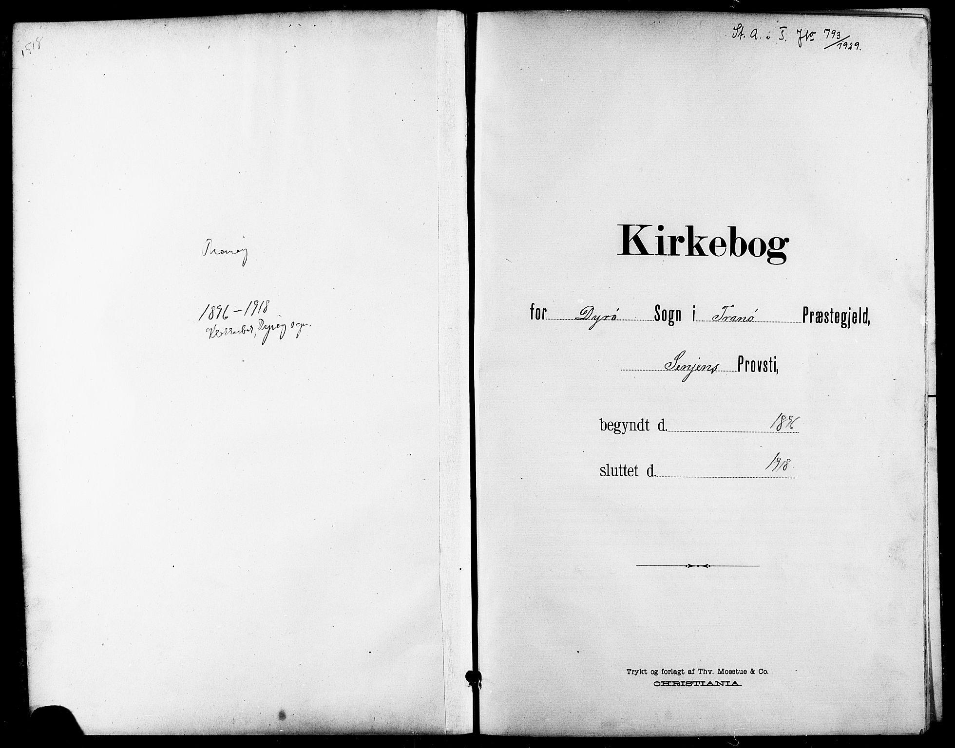 SATØ, Tranøy sokneprestkontor, I/Ia/Iab/L0014klokker: Klokkerbok nr. 14, 1896-1918