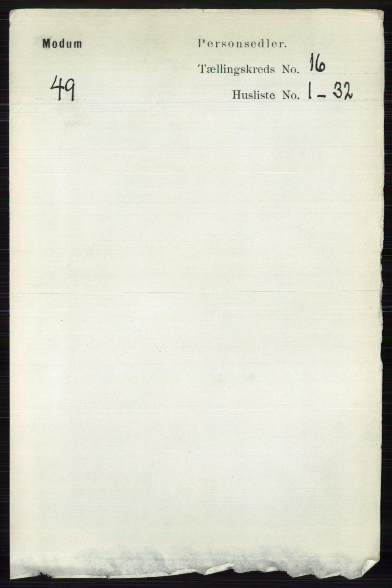 RA, Folketelling 1891 for 0623 Modum herred, 1891, s. 6185