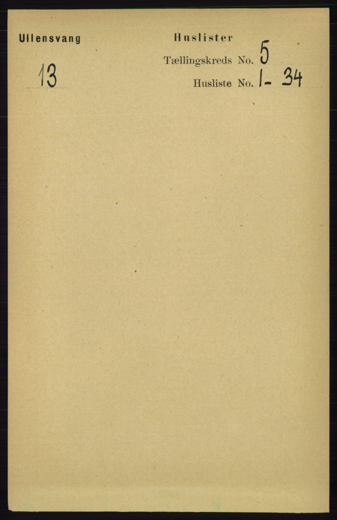 RA, Folketelling 1891 for 1230 Ullensvang herred, 1891, s. 1578