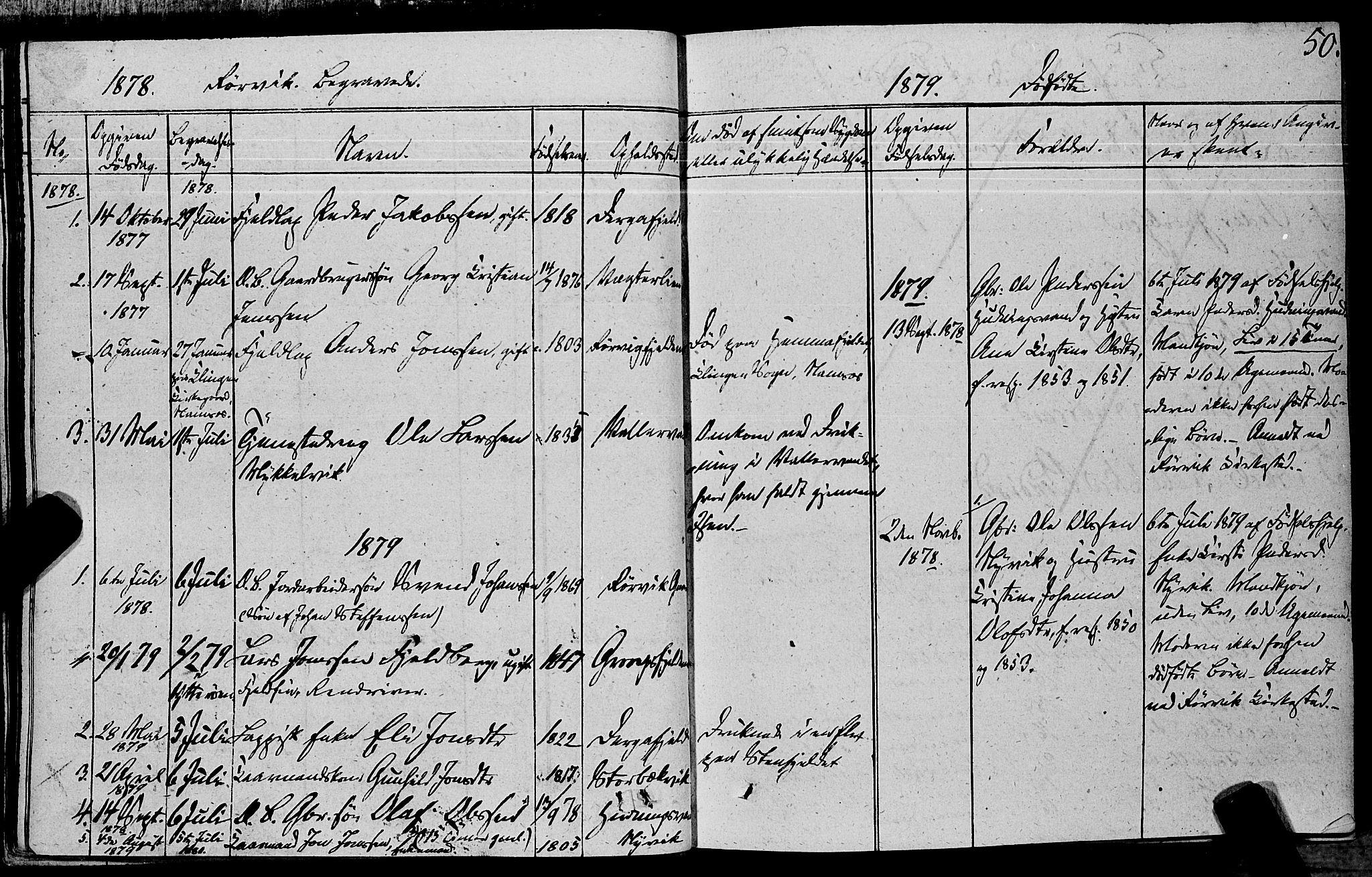 SAT, Ministerialprotokoller, klokkerbøker og fødselsregistre - Nord-Trøndelag, 762/L0538: Ministerialbok nr. 762A02 /1, 1833-1879, s. 50