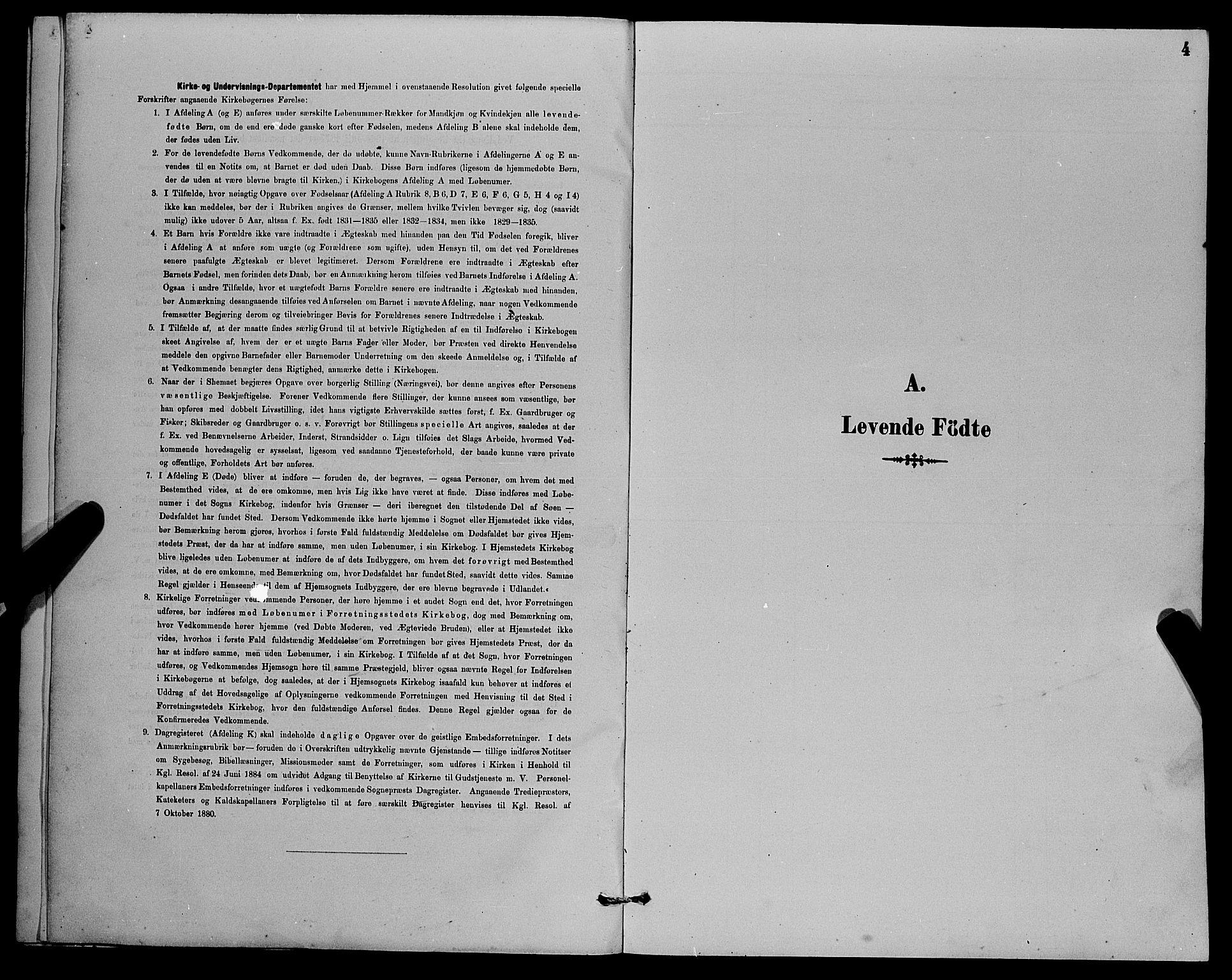 SAB, Herdla Sokneprestembete, H/Hab: Klokkerbok nr. A 3, 1889-1899, s. 4