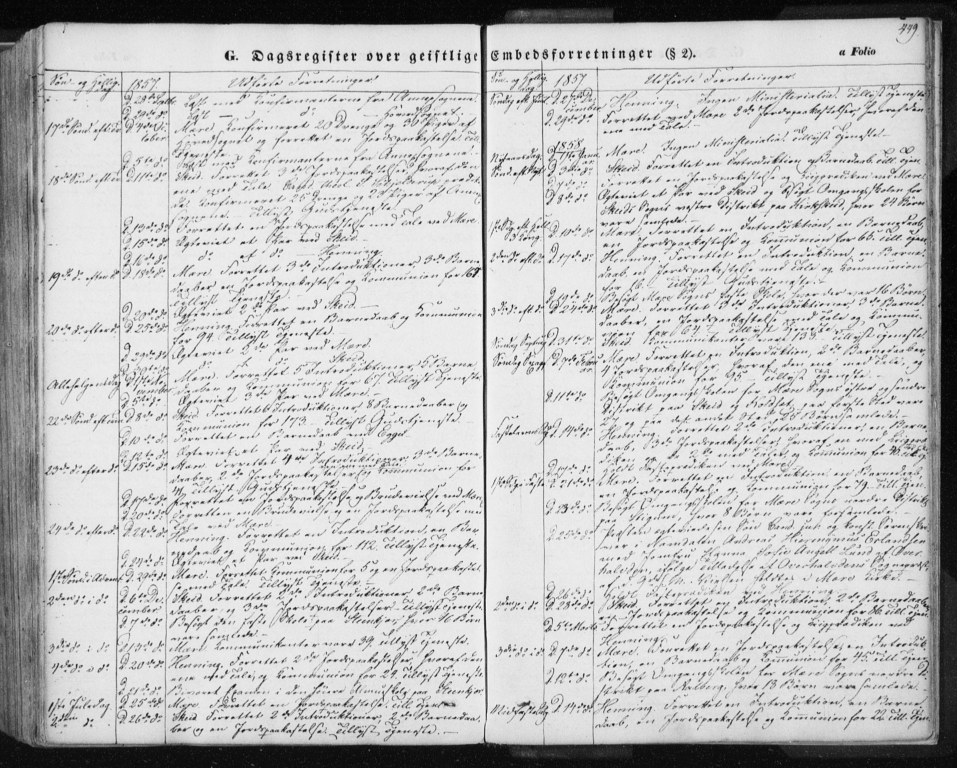 SAT, Ministerialprotokoller, klokkerbøker og fødselsregistre - Nord-Trøndelag, 735/L0342: Ministerialbok nr. 735A07 /1, 1849-1862, s. 449
