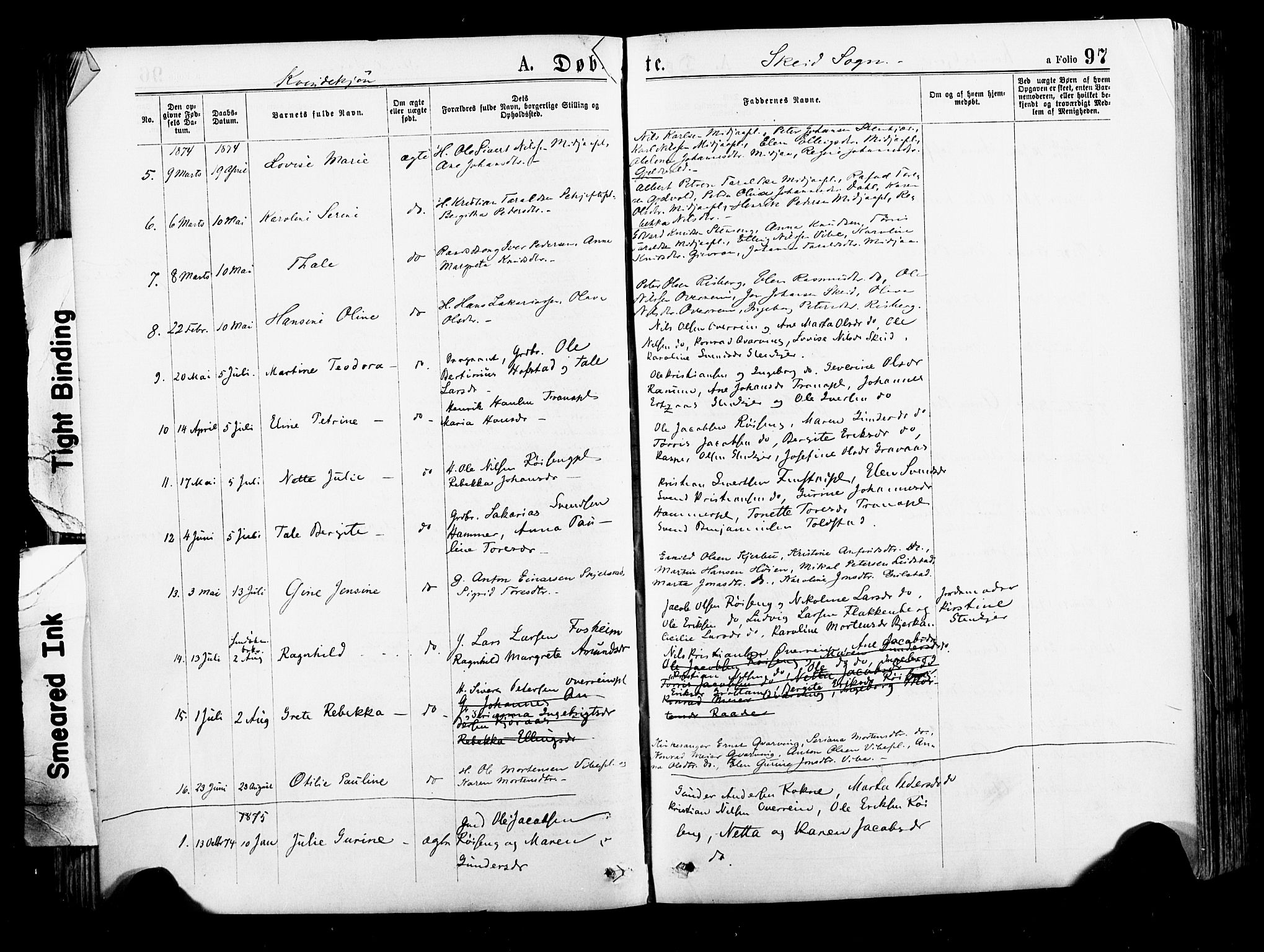 SAT, Ministerialprotokoller, klokkerbøker og fødselsregistre - Nord-Trøndelag, 735/L0348: Ministerialbok nr. 735A09 /2, 1873-1883, s. 97