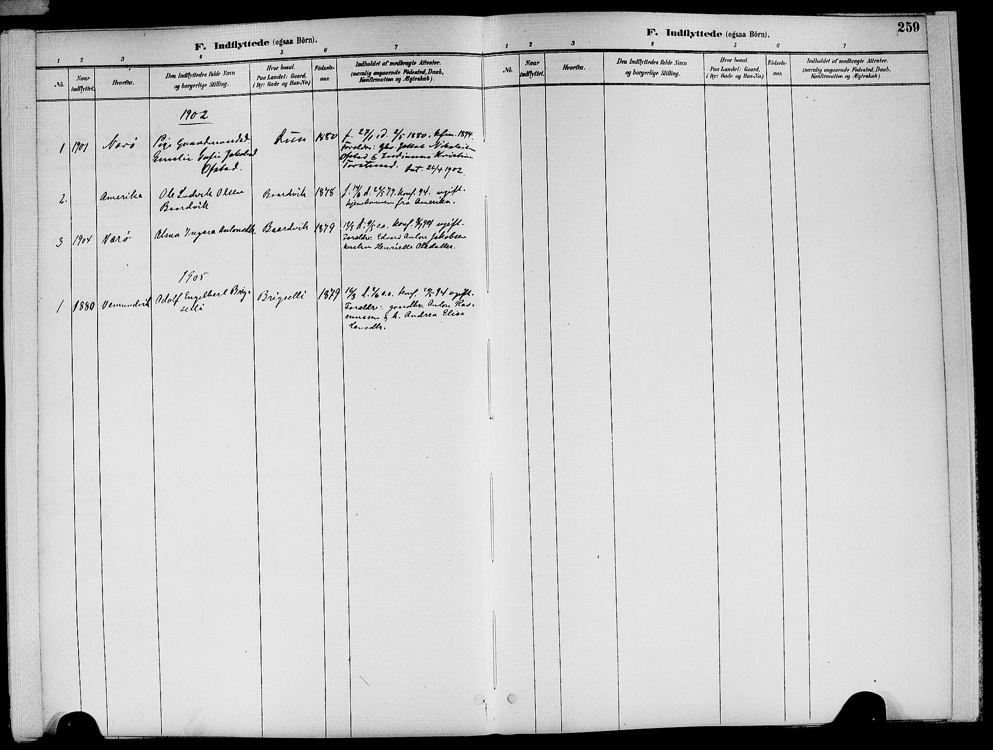 SAT, Ministerialprotokoller, klokkerbøker og fødselsregistre - Nord-Trøndelag, 773/L0617: Ministerialbok nr. 773A08, 1887-1910, s. 259