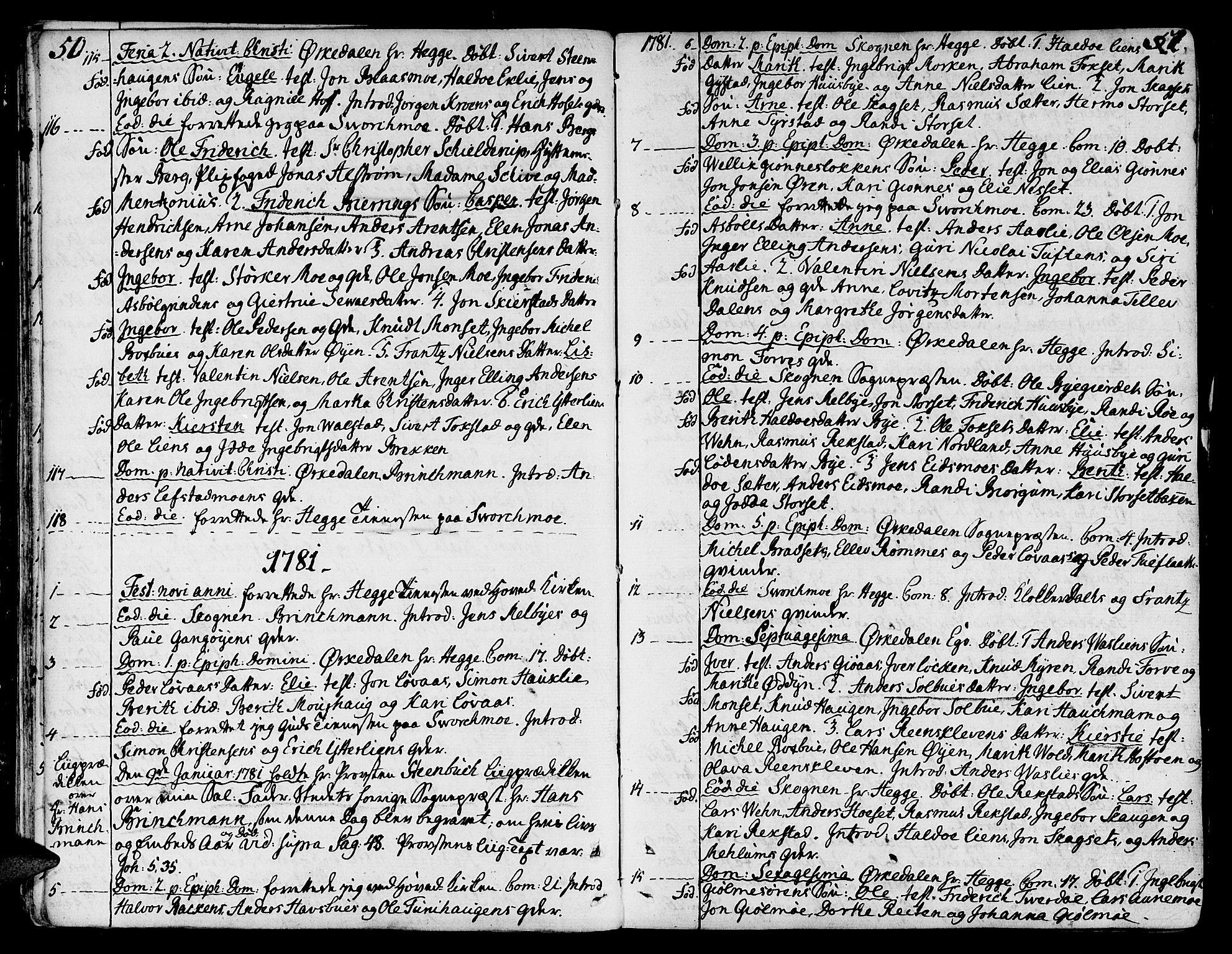 SAT, Ministerialprotokoller, klokkerbøker og fødselsregistre - Sør-Trøndelag, 668/L0802: Ministerialbok nr. 668A02, 1776-1799, s. 50-51