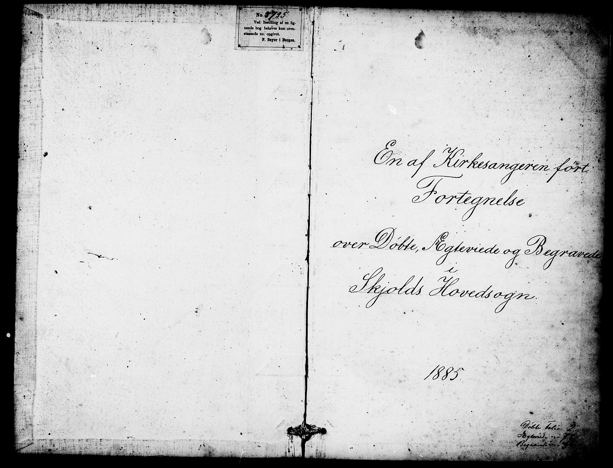 SAST, Skjold sokneprestkontor, H/Ha/Hab/L0007: Klokkerbok nr. B 7, 1885-1906