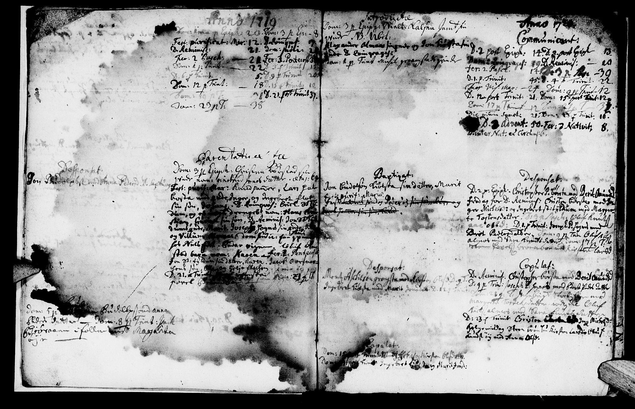 SAT, Ministerialprotokoller, klokkerbøker og fødselsregistre - Nord-Trøndelag, 765/L0560: Ministerialbok nr. 765A01, 1706-1748, s. 5