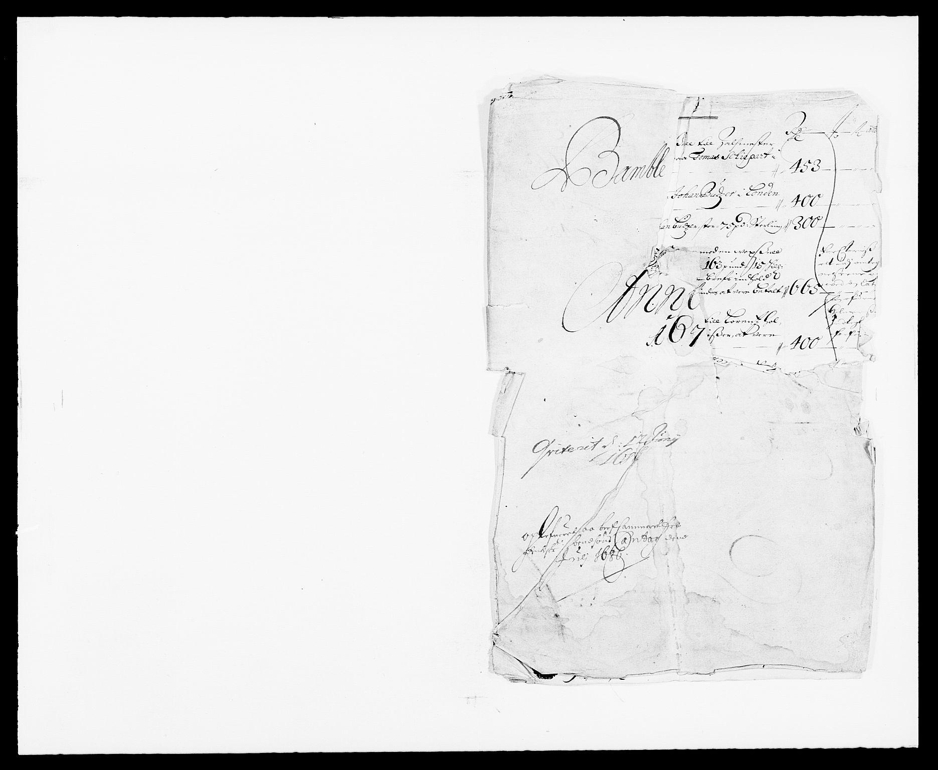RA, Rentekammeret inntil 1814, Reviderte regnskaper, Fogderegnskap, R34/L2042: Fogderegnskap Bamble, 1673-1675, s. 123