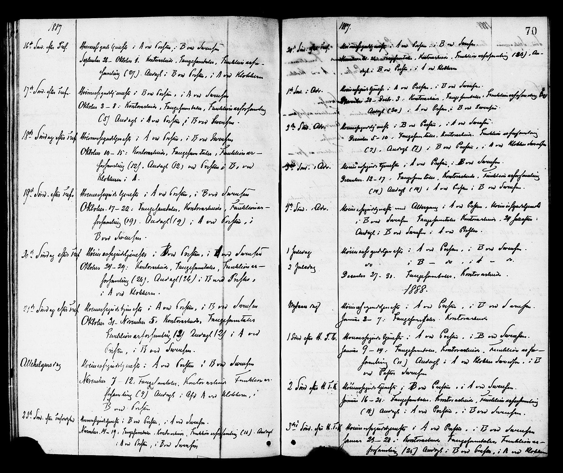 SAT, Ministerialprotokoller, klokkerbøker og fødselsregistre - Sør-Trøndelag, 624/L0482: Ministerialbok nr. 624A03, 1870-1918, s. 70