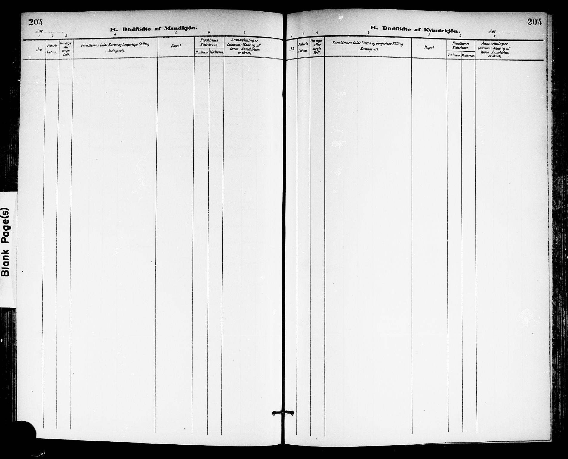 SAKO, Gjerpen kirkebøker, G/Ga/L0003: Klokkerbok nr. I 3, 1901-1919, s. 204