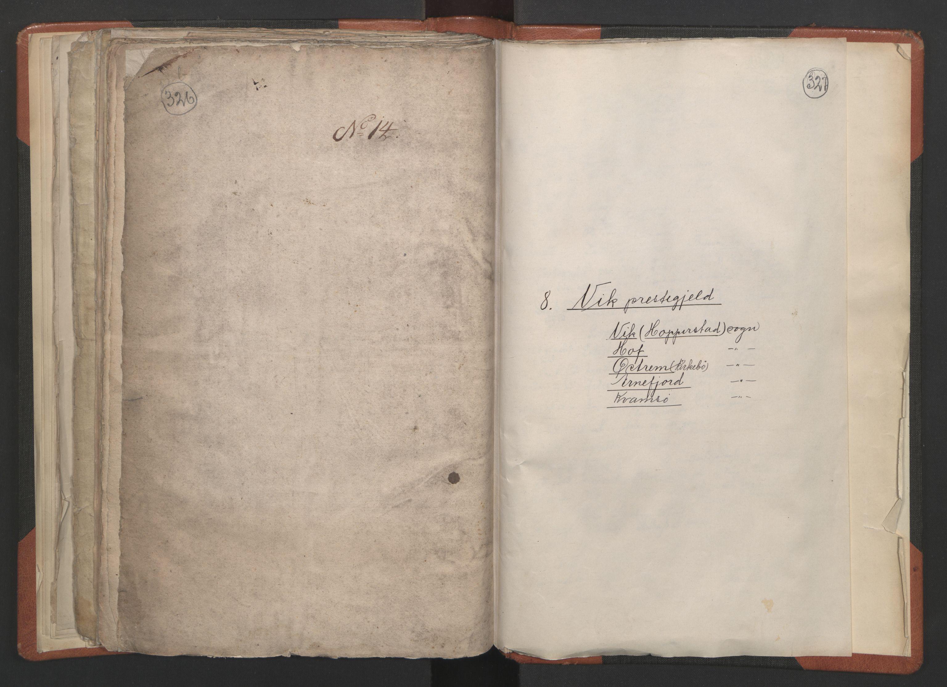 RA, Sogneprestenes manntall 1664-1666, nr. 23: Sogn prosti, 1664-1666, s. 326-327