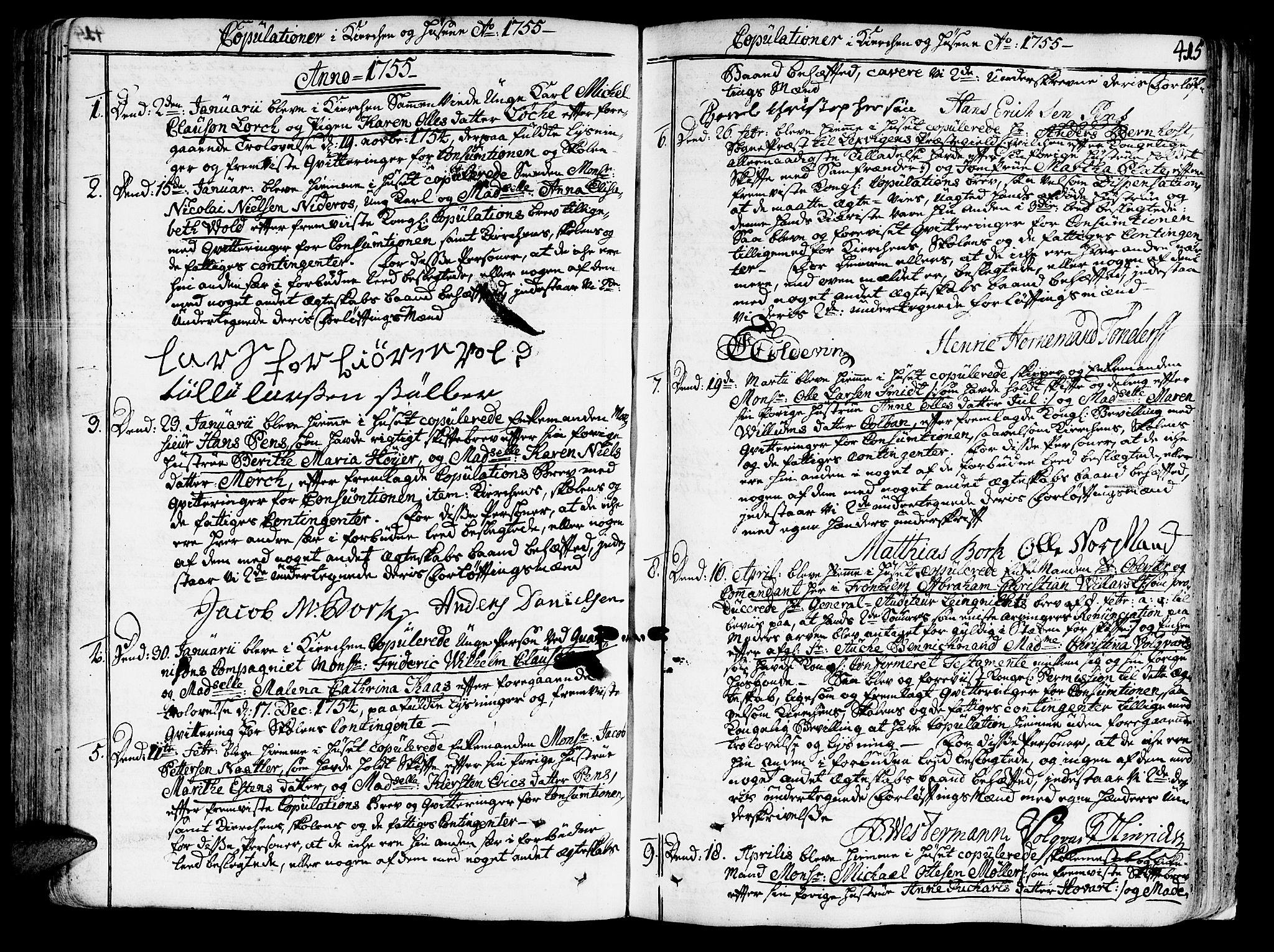 SAT, Ministerialprotokoller, klokkerbøker og fødselsregistre - Sør-Trøndelag, 602/L0103: Ministerialbok nr. 602A01, 1732-1774, s. 415