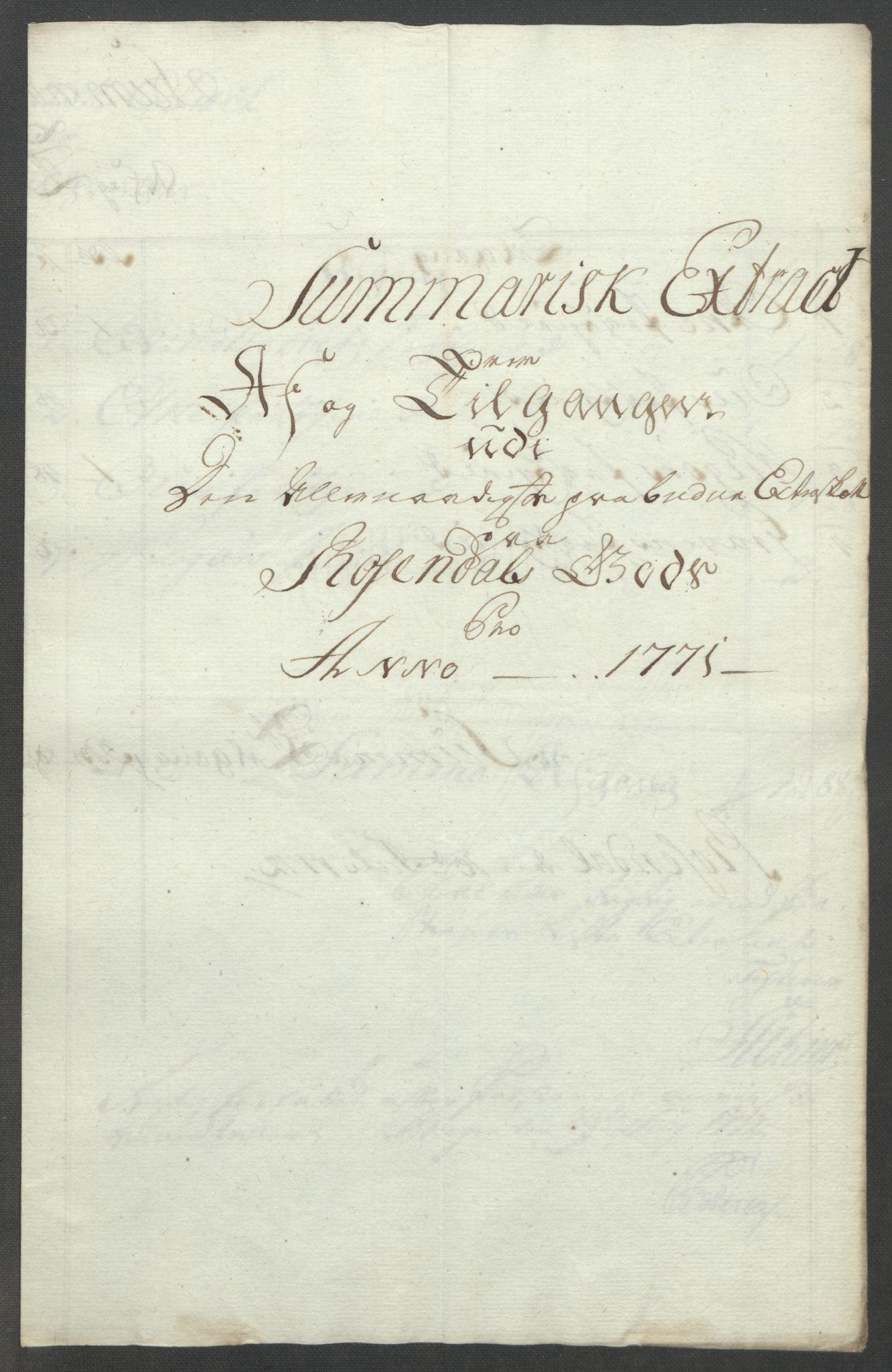 RA, Rentekammeret inntil 1814, Reviderte regnskaper, Fogderegnskap, R49/L3157: Ekstraskatten Rosendal Baroni, 1762-1772, s. 332