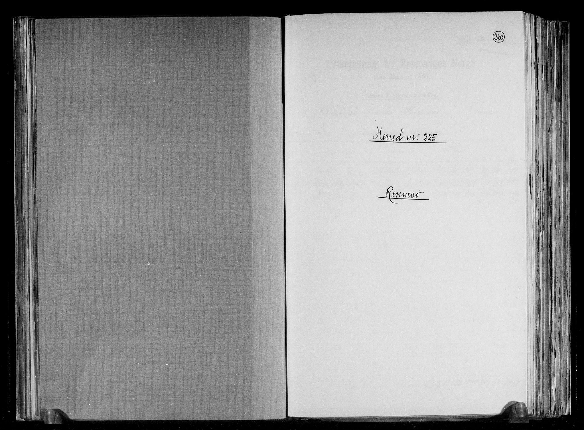 RA, Folketelling 1891 for 1142 Rennesøy herred, 1891, s. 1