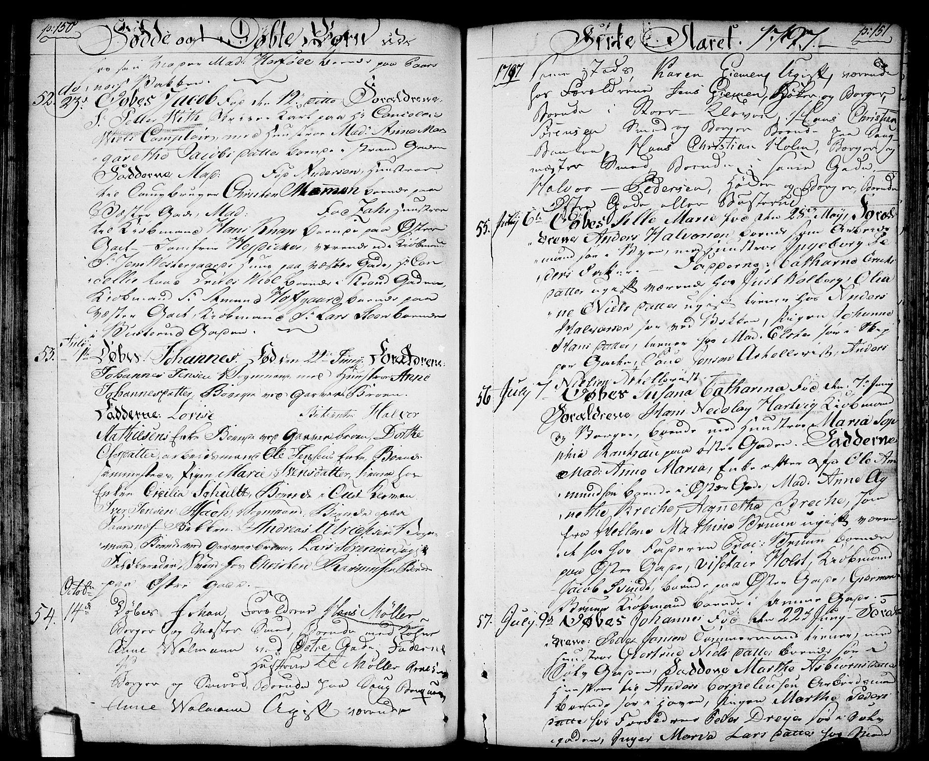 SAO, Halden prestekontor Kirkebøker, F/Fa/L0002: Ministerialbok nr. I 2, 1792-1812, s. 150-151