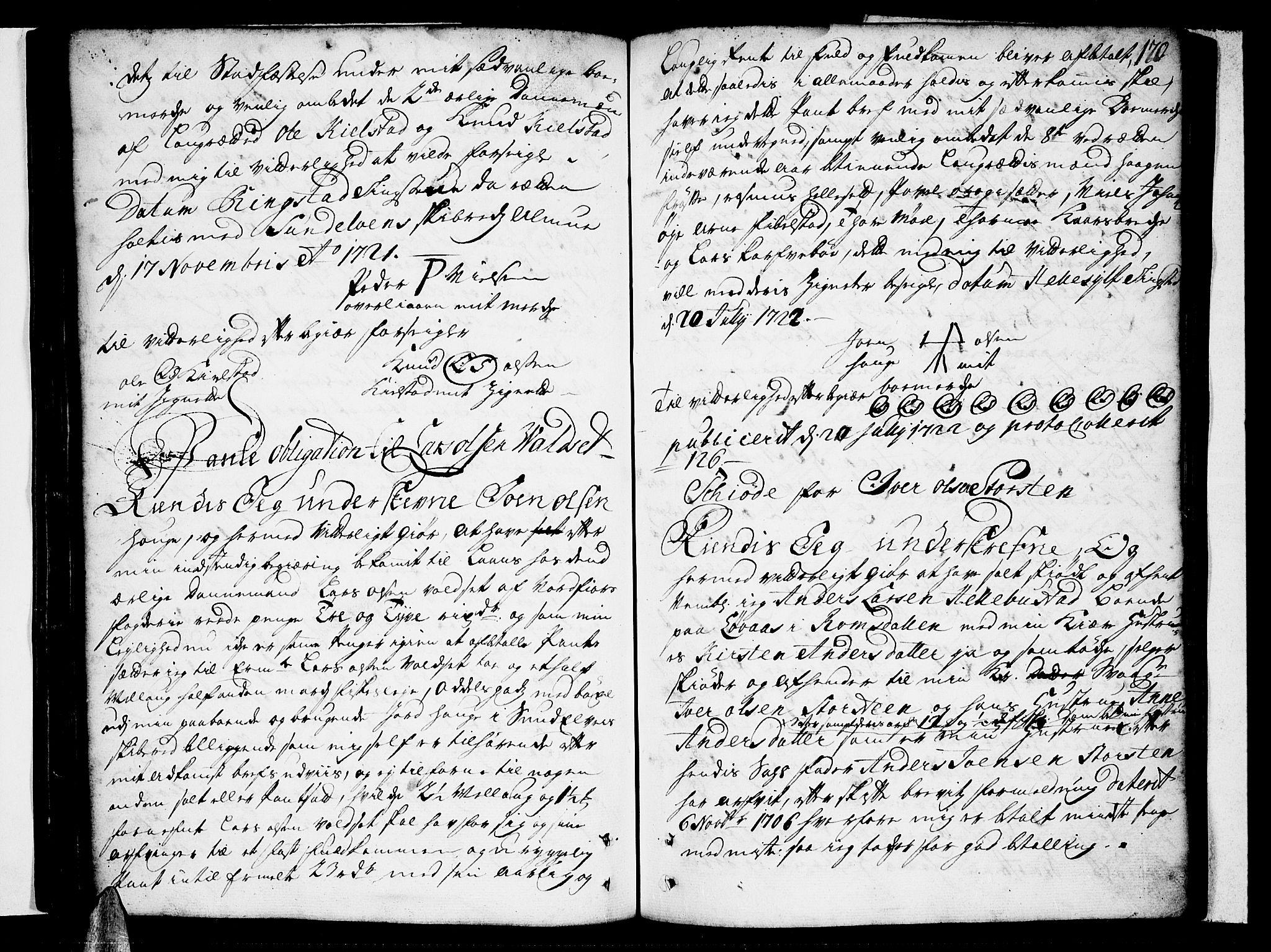SAT, Sunnmøre sorenskriveri, 2/2C/L0001: Pantebok nr. 1, 1707-1724, s. 170