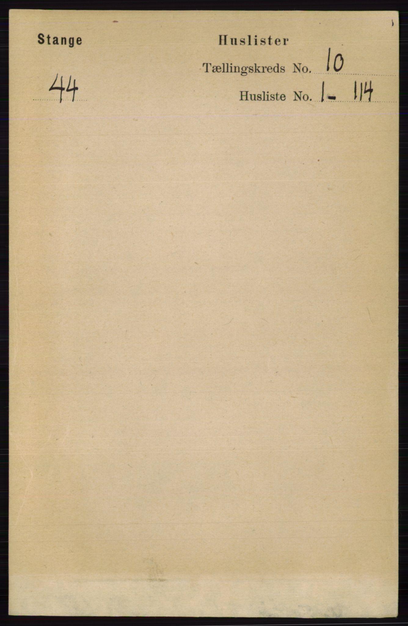 RA, Folketelling 1891 for 0417 Stange herred, 1891, s. 6683