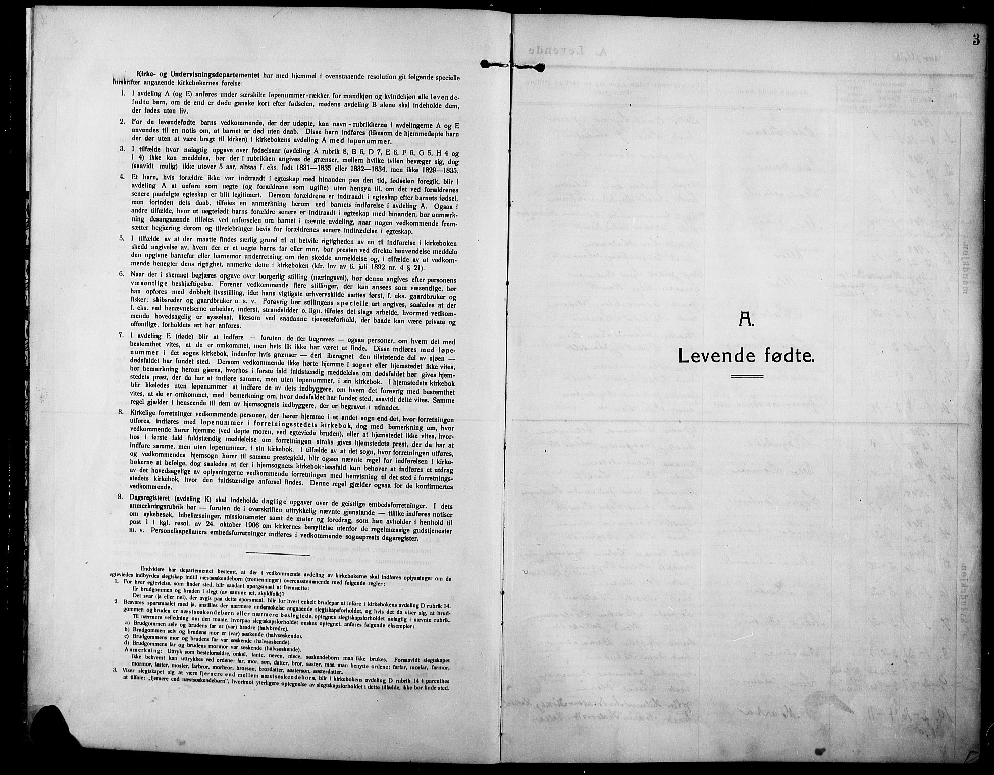 SAH, Lunner prestekontor, H/Ha/Hab/L0001: Klokkerbok nr. 1, 1909-1922, s. 3