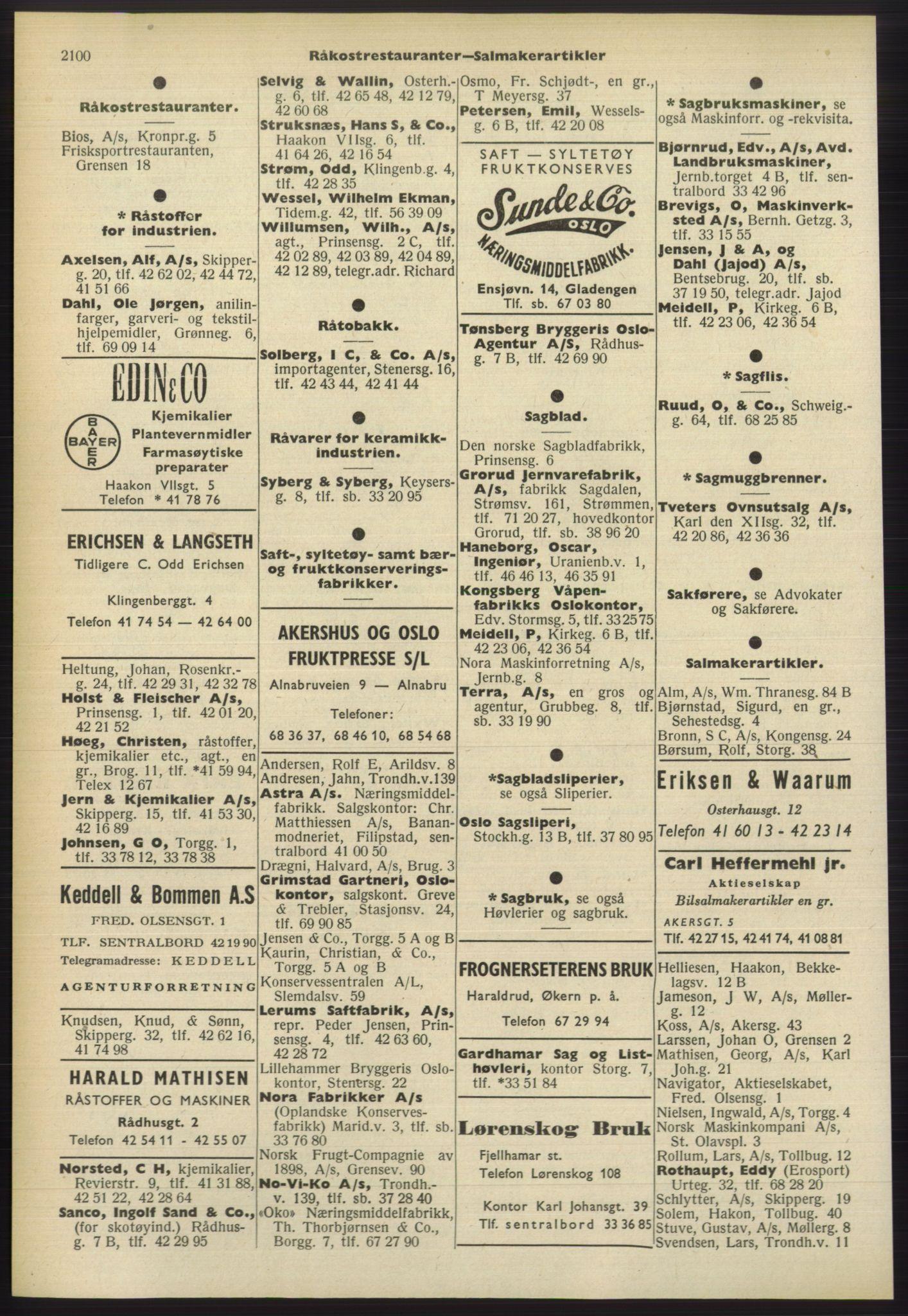 PUBL, Kristiania/Oslo adressebok, 1960-1961, s. 2100