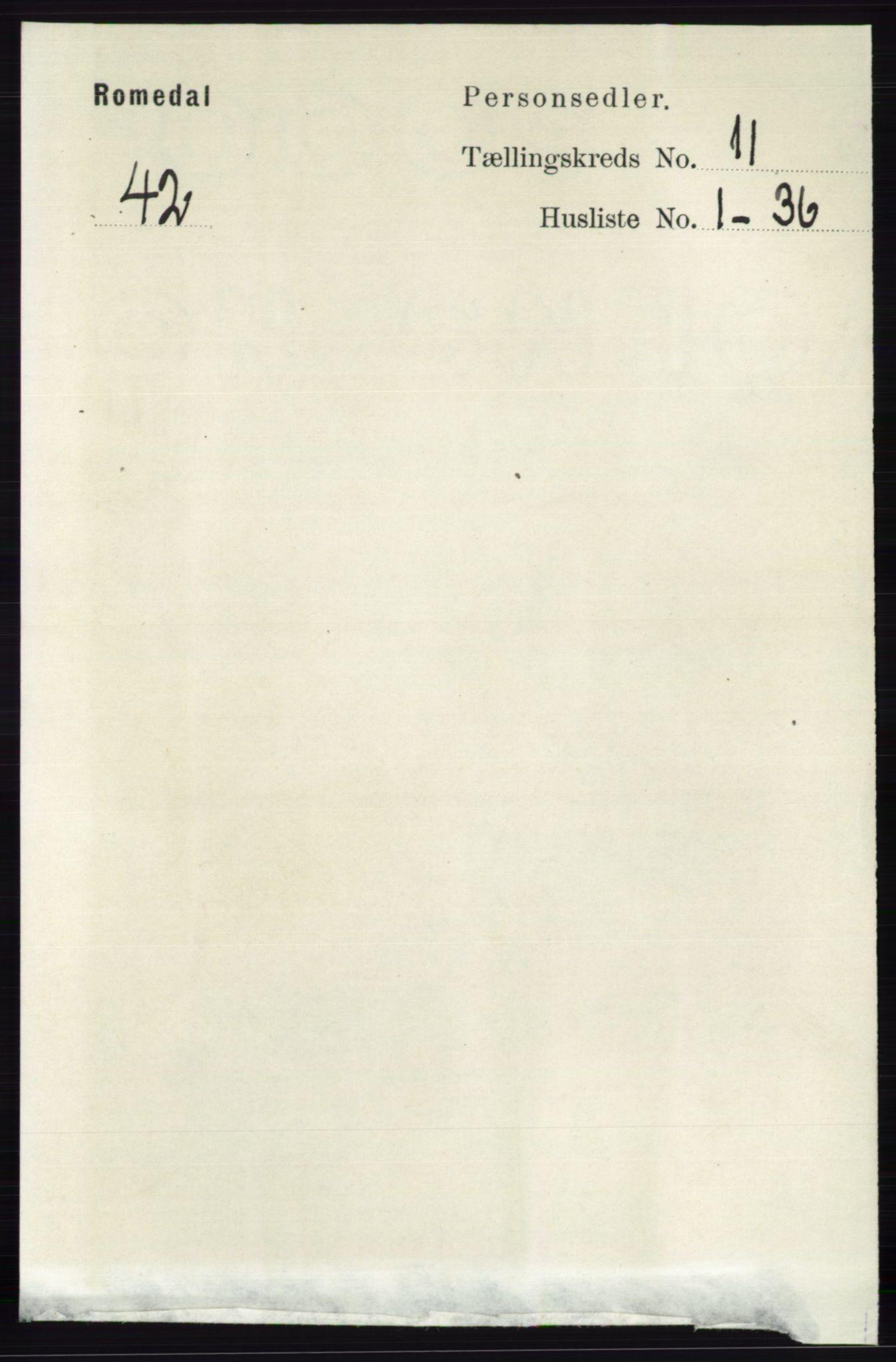 RA, Folketelling 1891 for 0416 Romedal herred, 1891, s. 5401