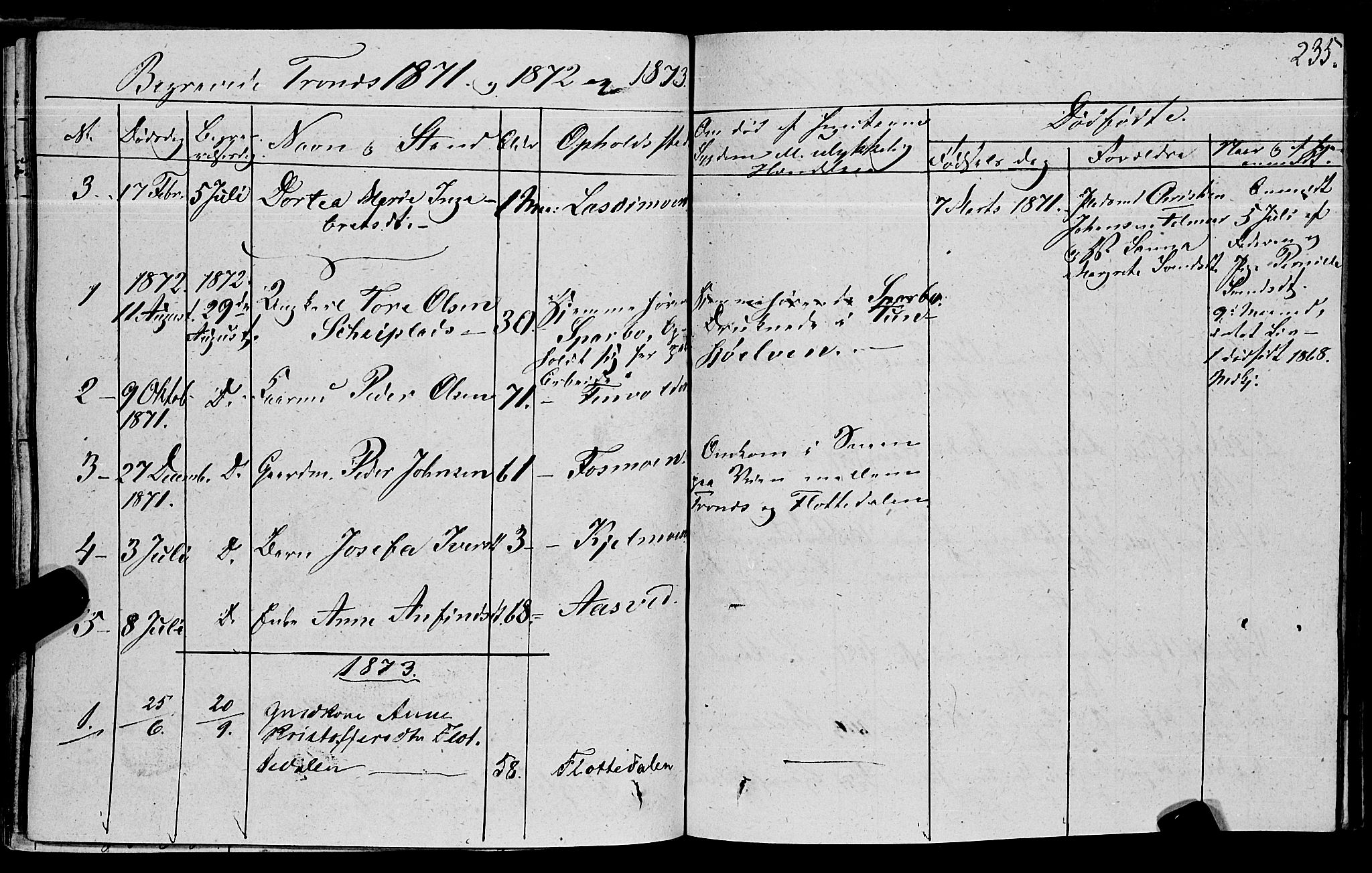 SAT, Ministerialprotokoller, klokkerbøker og fødselsregistre - Nord-Trøndelag, 762/L0538: Ministerialbok nr. 762A02 /2, 1833-1879, s. 235