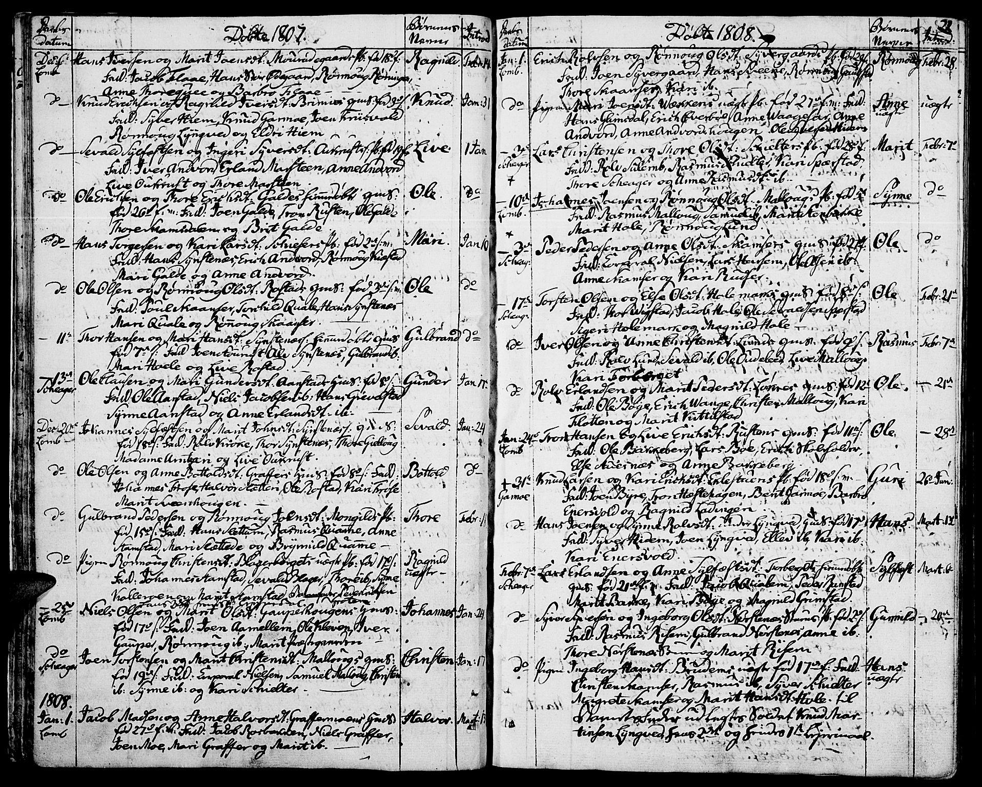 SAH, Lom prestekontor, K/L0003: Ministerialbok nr. 3, 1801-1825, s. 22