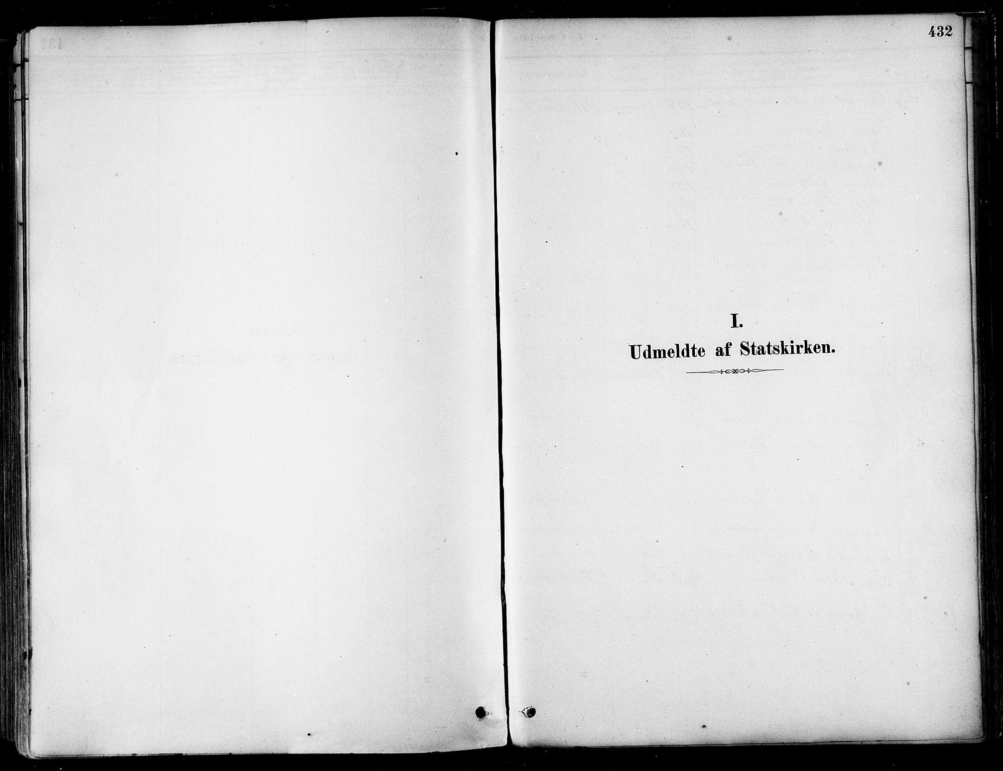 SAT, Ministerialprotokoller, klokkerbøker og fødselsregistre - Nordland, 802/L0054: Ministerialbok nr. 802A01, 1879-1893, s. 432