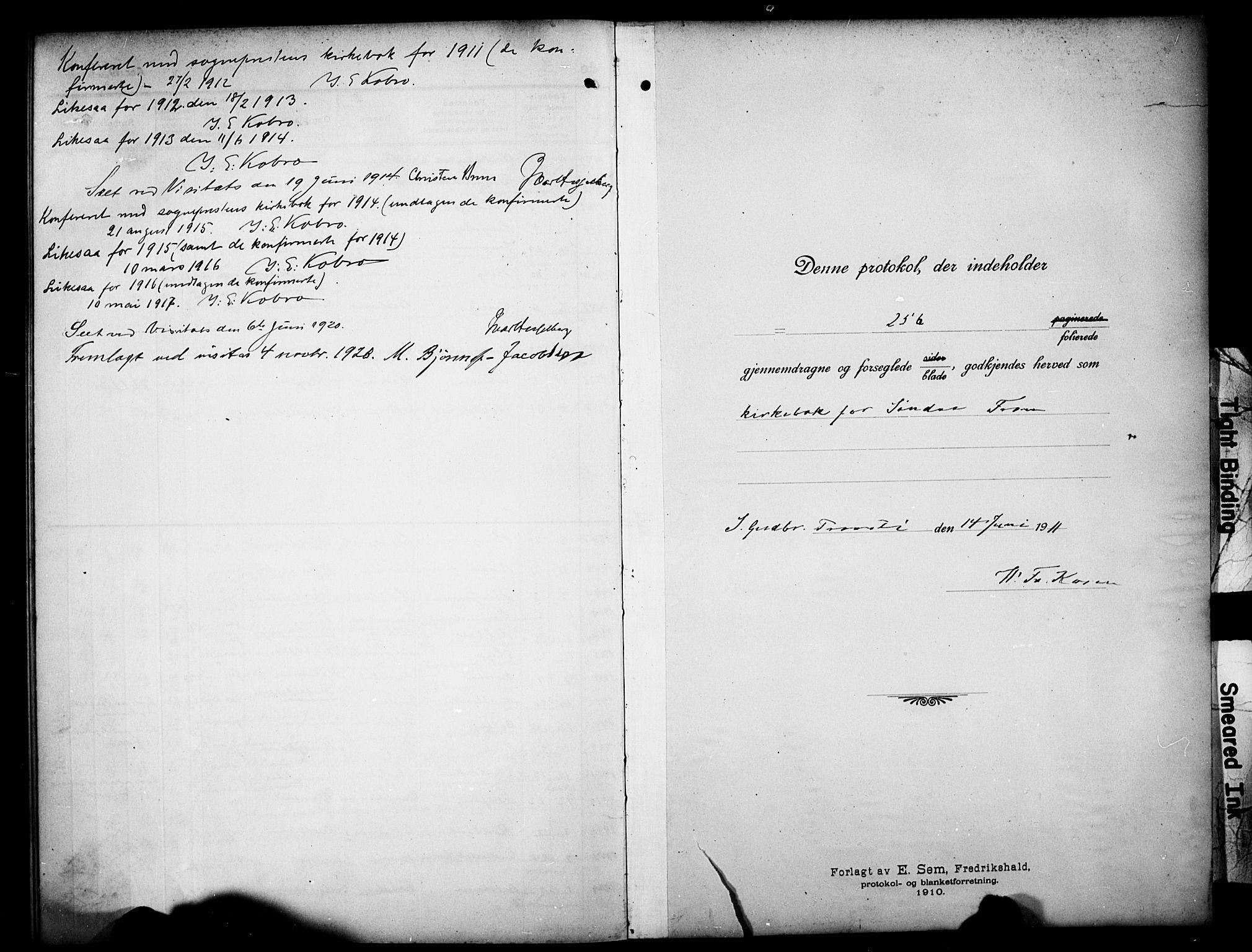 SAH, Sør-Fron prestekontor, H/Ha/Hab/L0005: Klokkerbok nr. 5, 1912-1930, s. 257