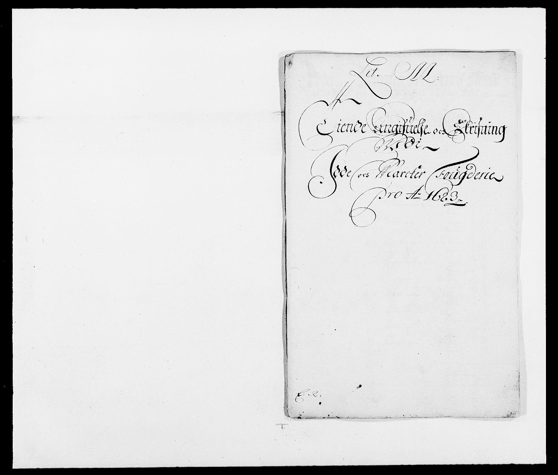 RA, Rentekammeret inntil 1814, Reviderte regnskaper, Fogderegnskap, R01/L0004: Fogderegnskap Idd og Marker , 1682-1683, s. 215