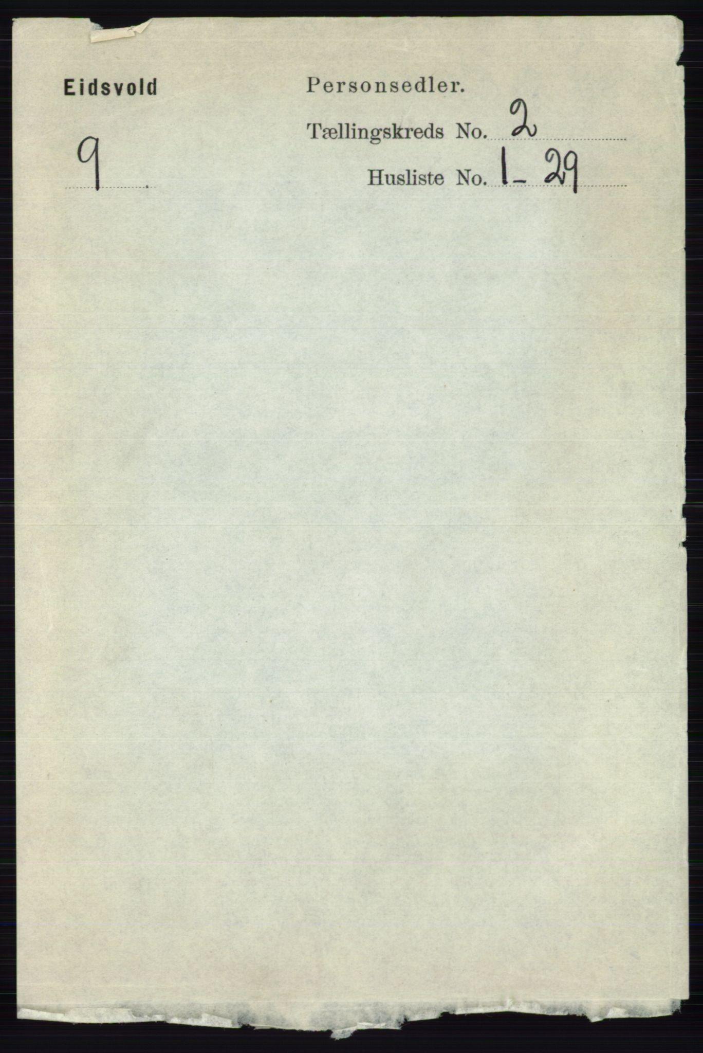 RA, Folketelling 1891 for 0237 Eidsvoll herred, 1891, s. 1177