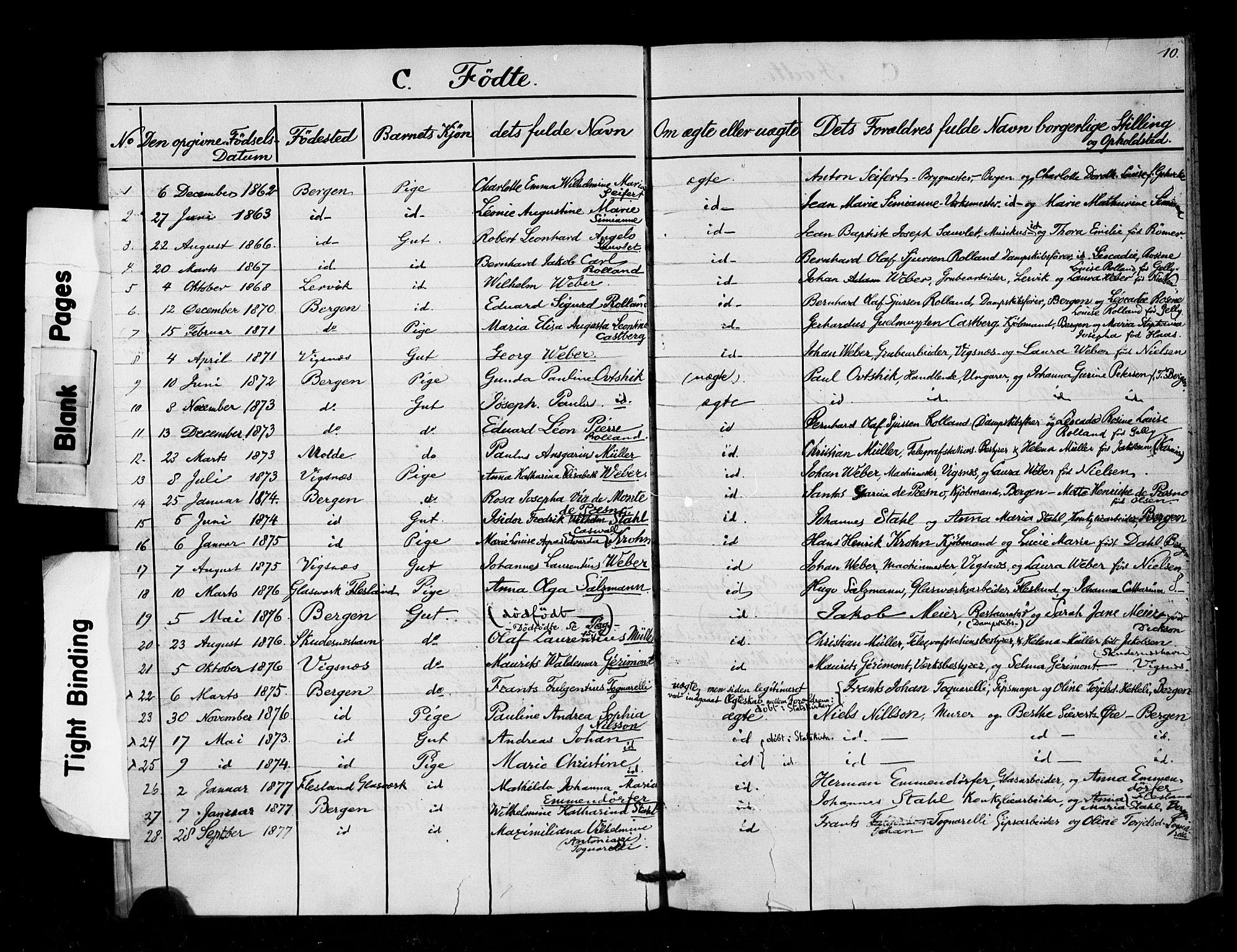 SAB, Arkivreferanse mangler*, Dissenterprotokoll nr. -, 1858-1878, s. 10