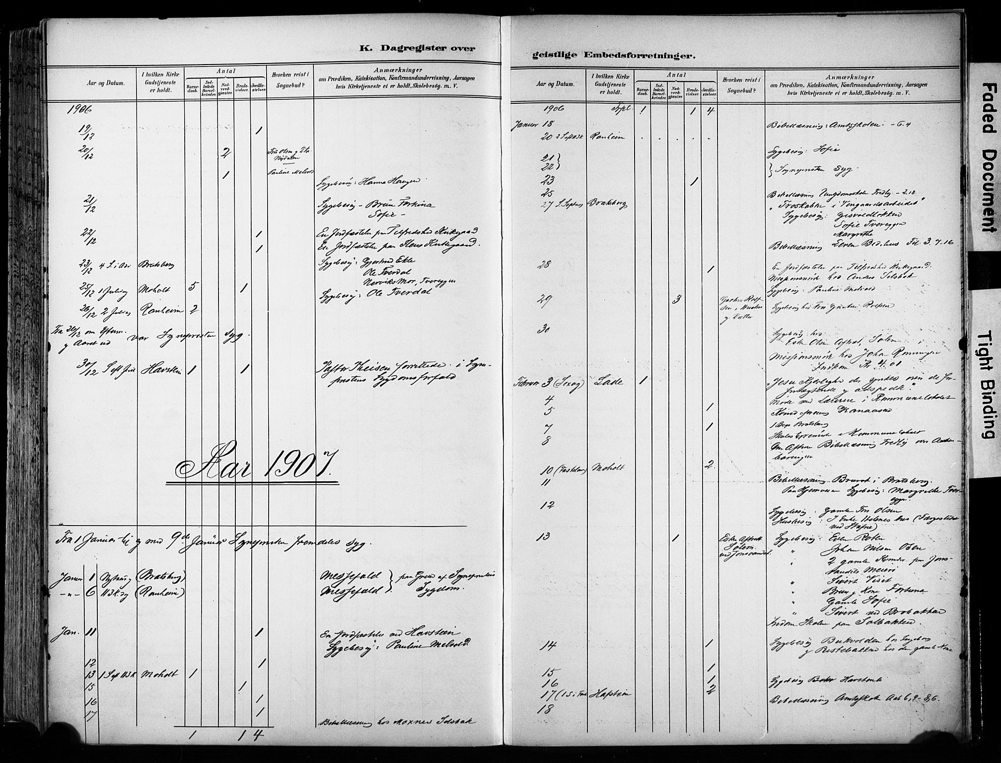 SAT, Ministerialprotokoller, klokkerbøker og fødselsregistre - Sør-Trøndelag, 606/L0301: Ministerialbok nr. 606A16, 1894-1907