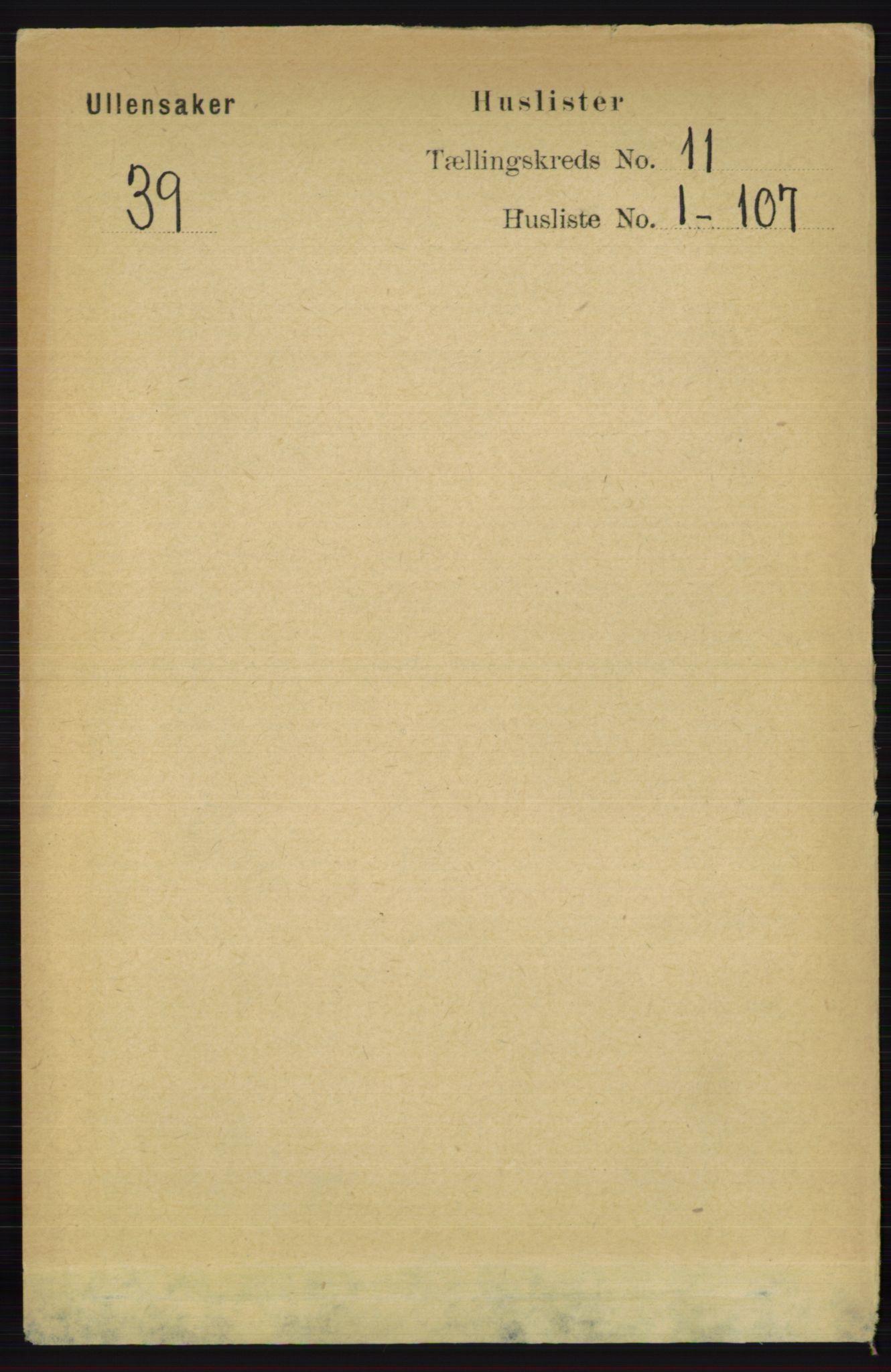RA, Folketelling 1891 for 0235 Ullensaker herred, 1891, s. 4809