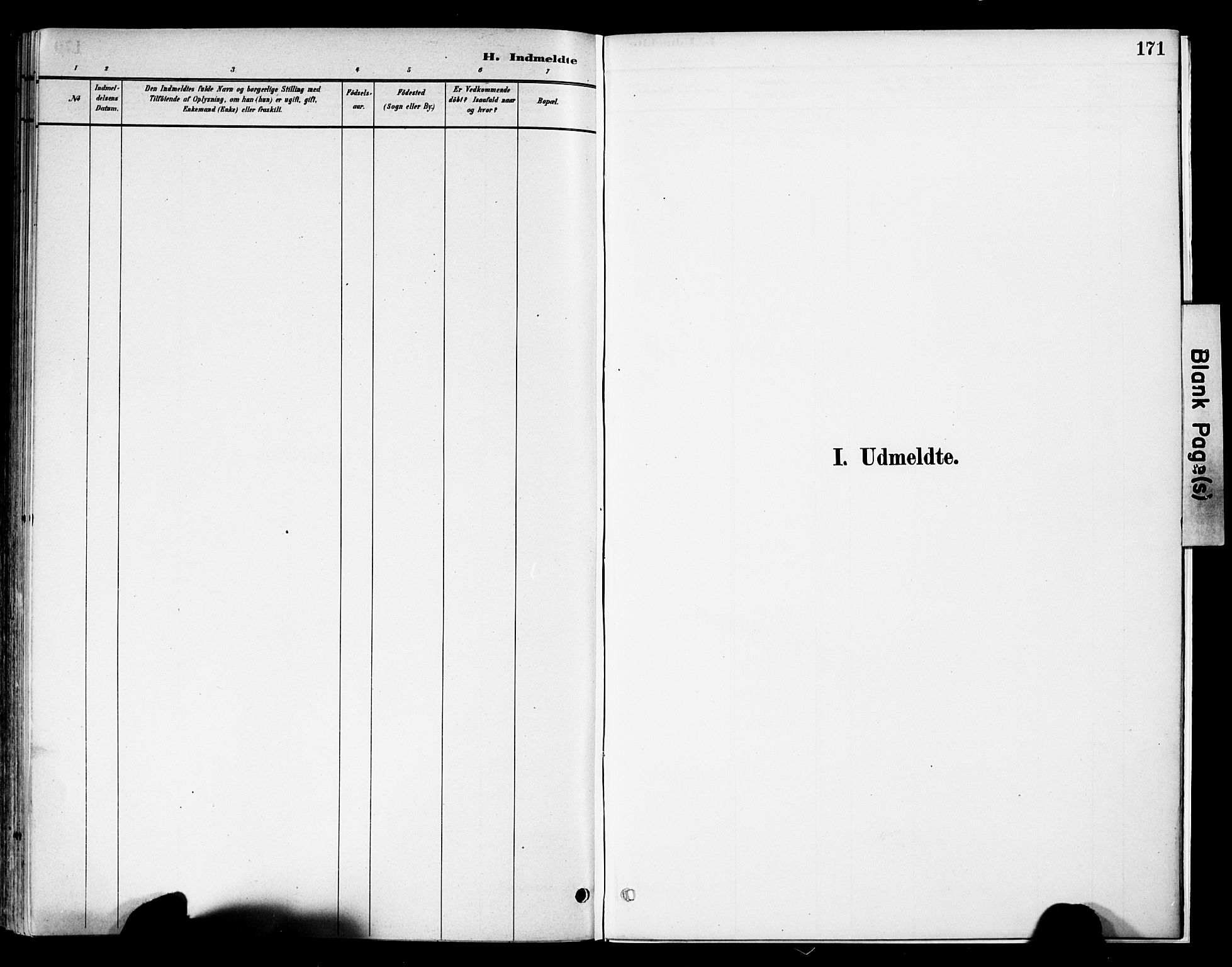 SAH, Vestre Slidre prestekontor, Ministerialbok nr. 6, 1881-1912, s. 171