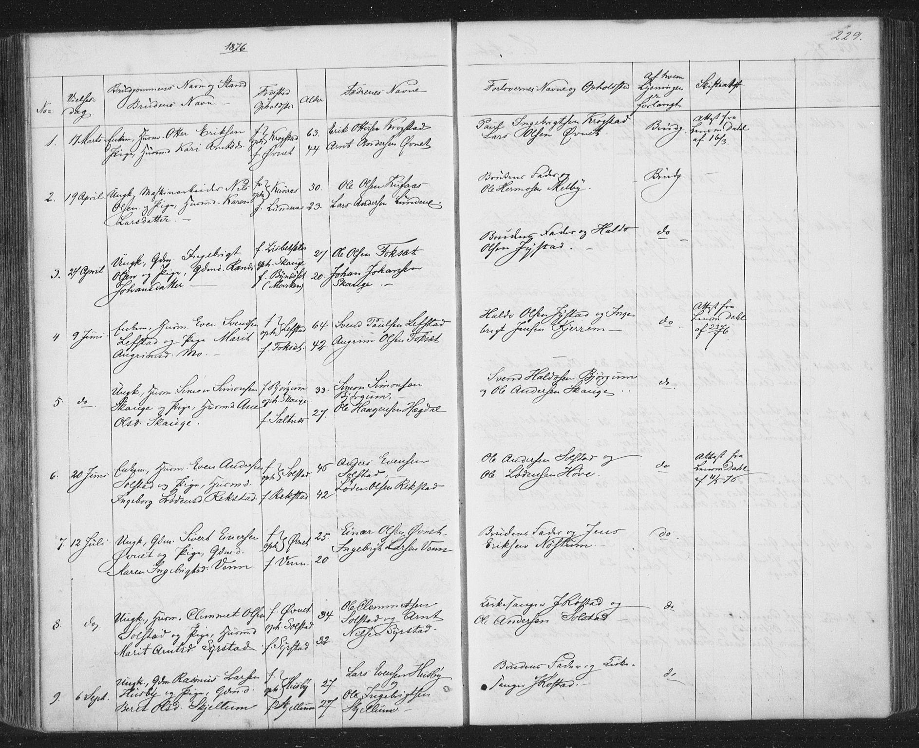 SAT, Ministerialprotokoller, klokkerbøker og fødselsregistre - Sør-Trøndelag, 667/L0798: Klokkerbok nr. 667C03, 1867-1929, s. 229