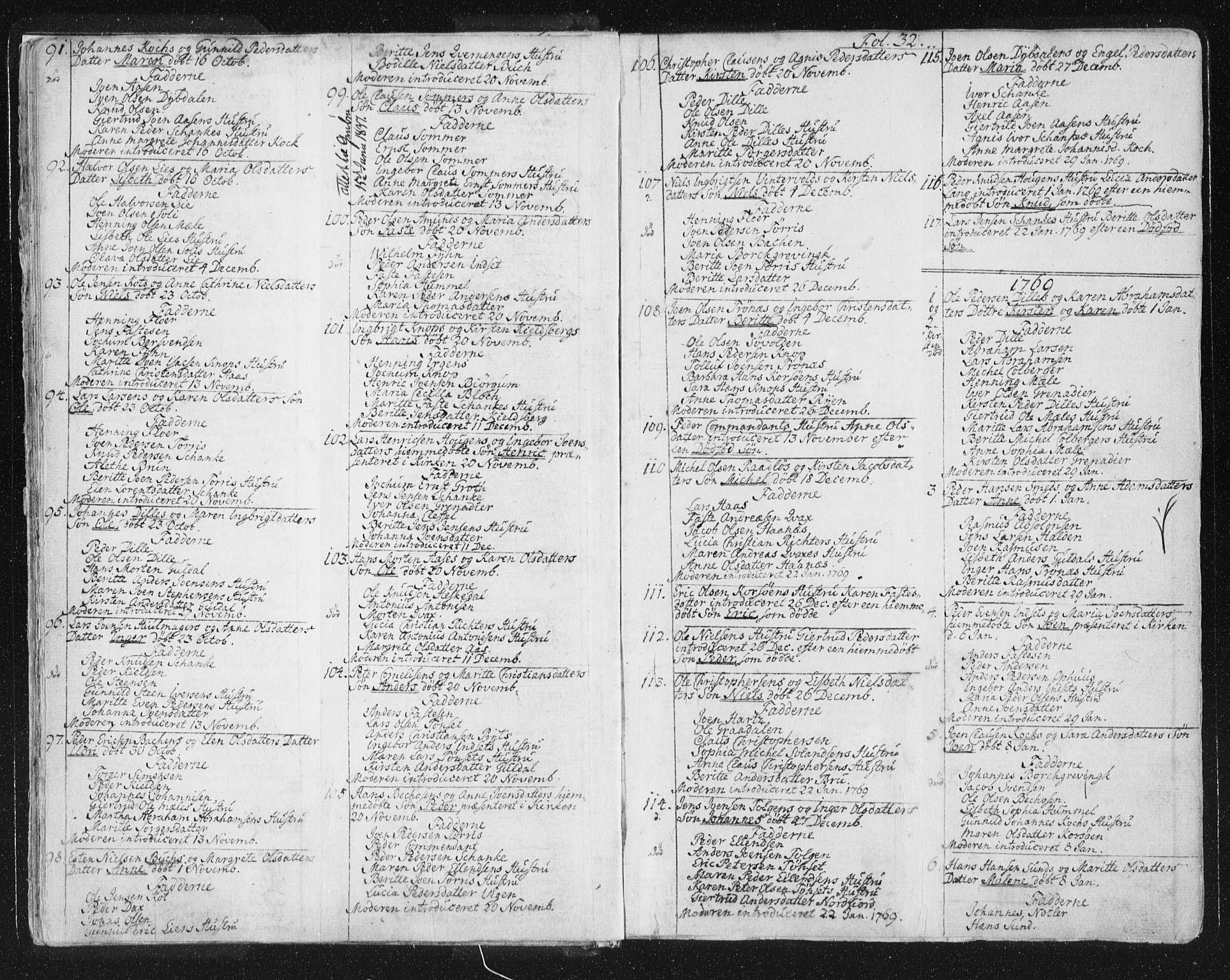 SAT, Ministerialprotokoller, klokkerbøker og fødselsregistre - Sør-Trøndelag, 681/L0926: Ministerialbok nr. 681A04, 1767-1797, s. 32